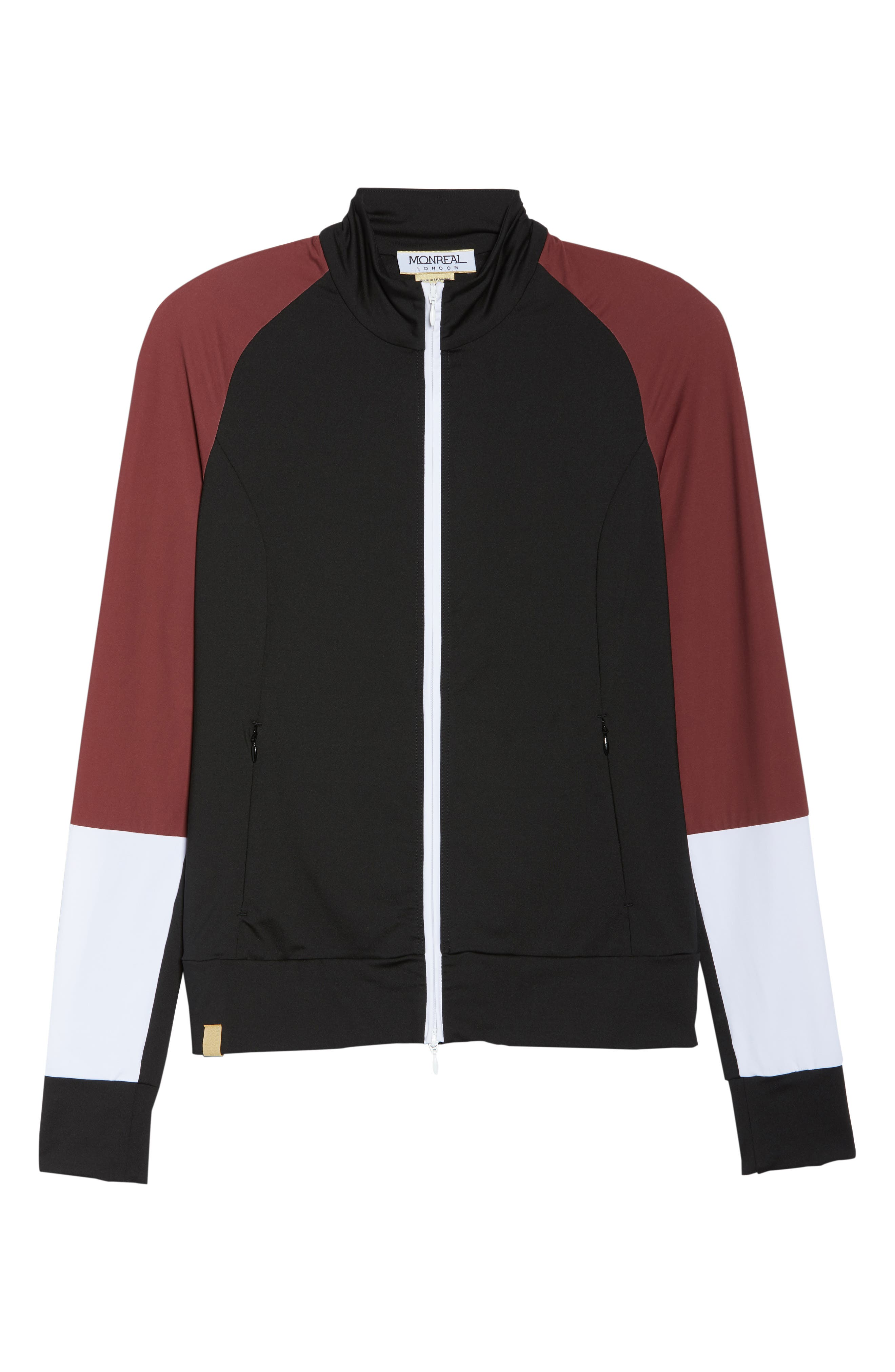 Featherweight Jacket,                             Alternate thumbnail 7, color,                             BLACK/ COCOA/ WHITE