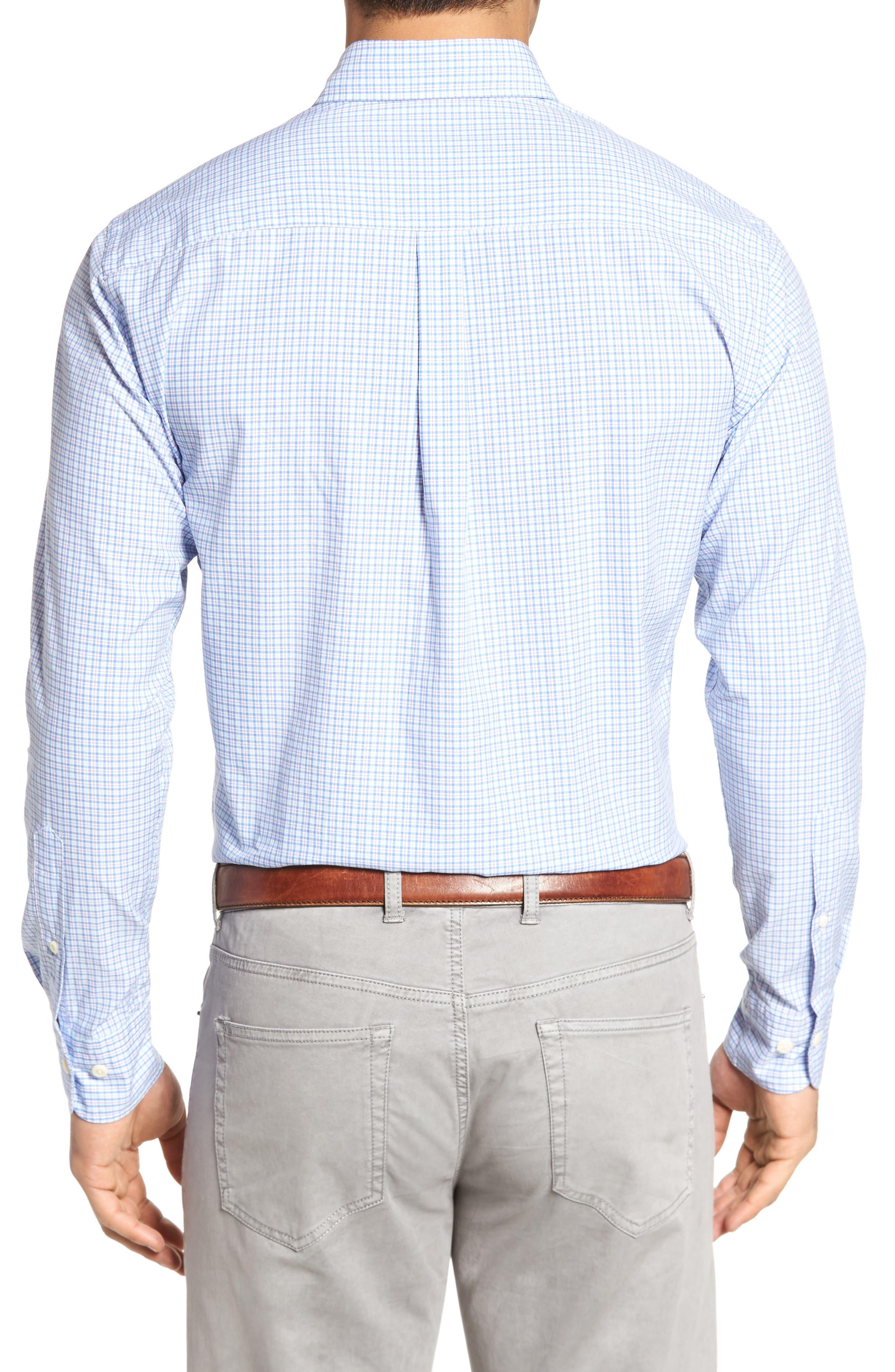 Crown Finish Regular Fit Check Sport Shirt,                             Alternate thumbnail 4, color,
