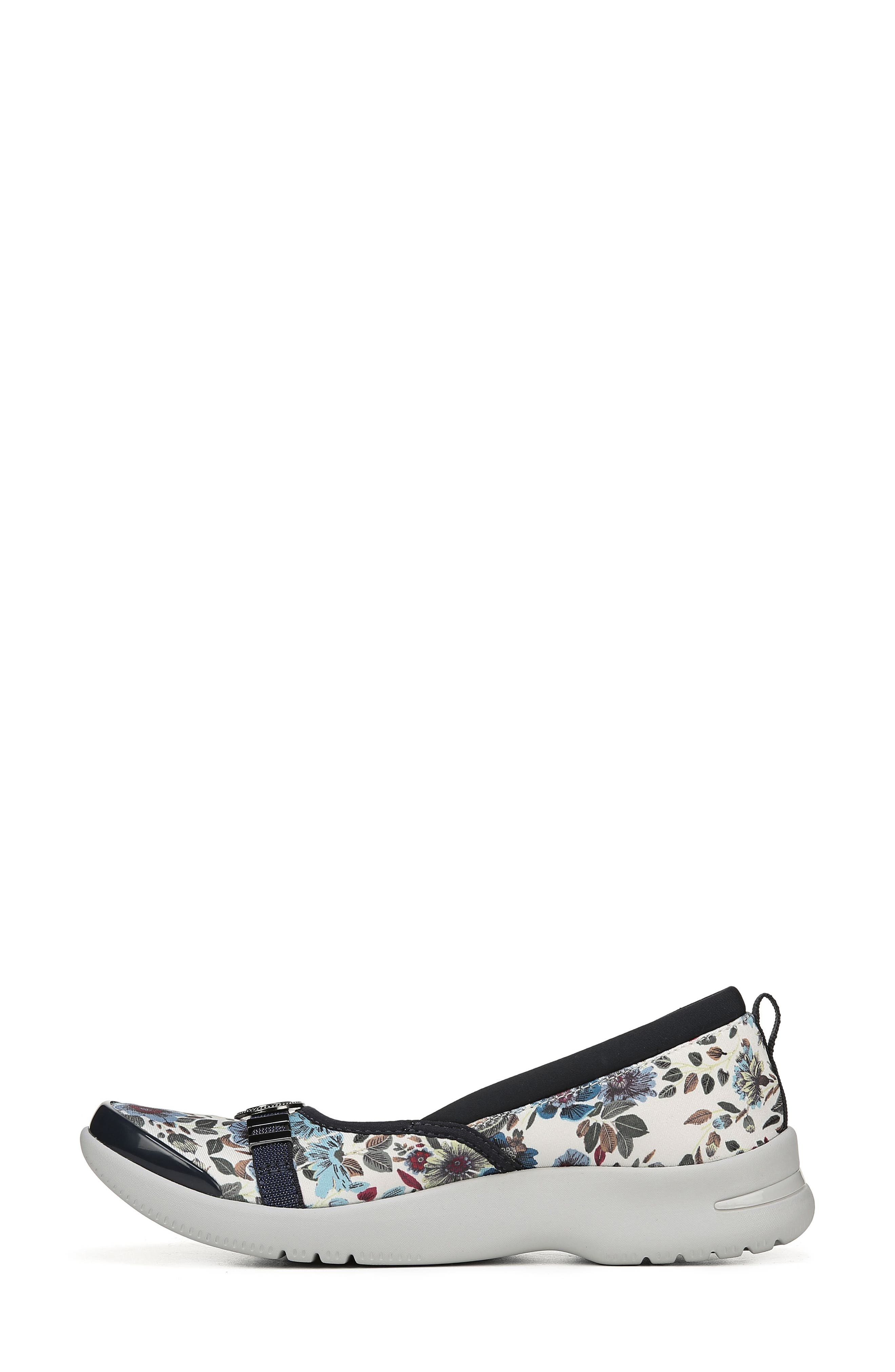 Aspire Ballet Flat,                             Alternate thumbnail 8, color,                             CREAM/ SKY BLUE FLORAL FABRIC