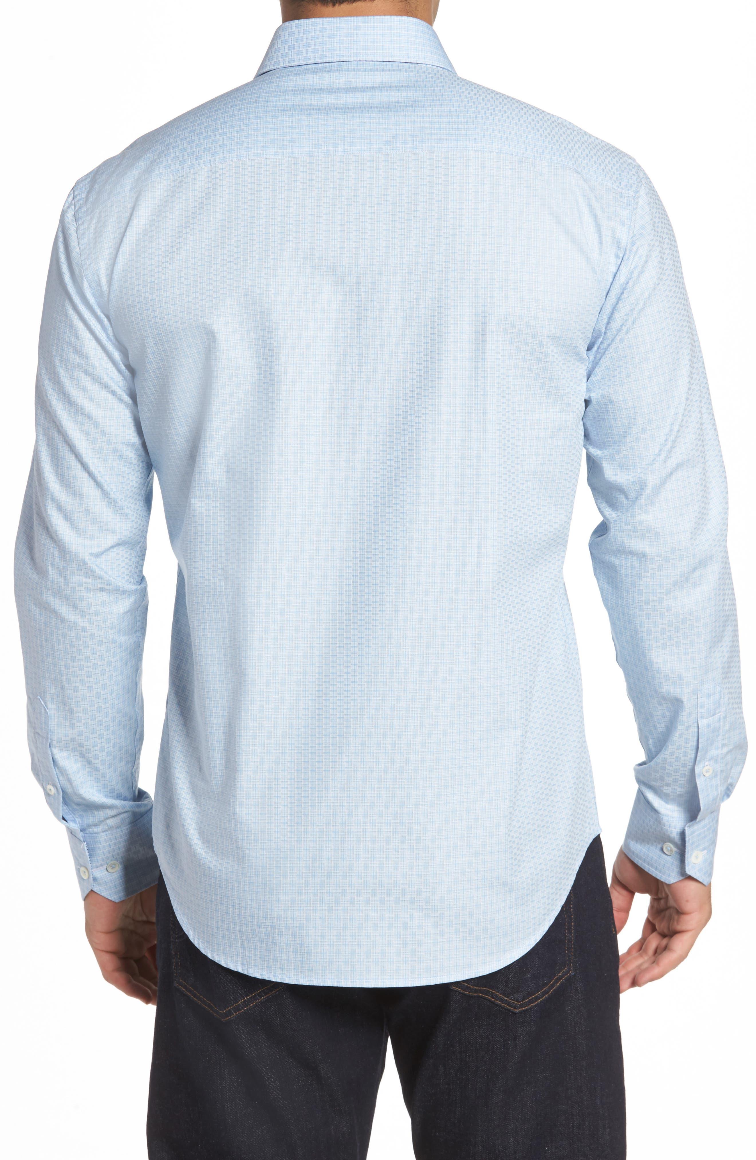 Shaped Fit Check Sport Shirt,                             Alternate thumbnail 2, color,                             459