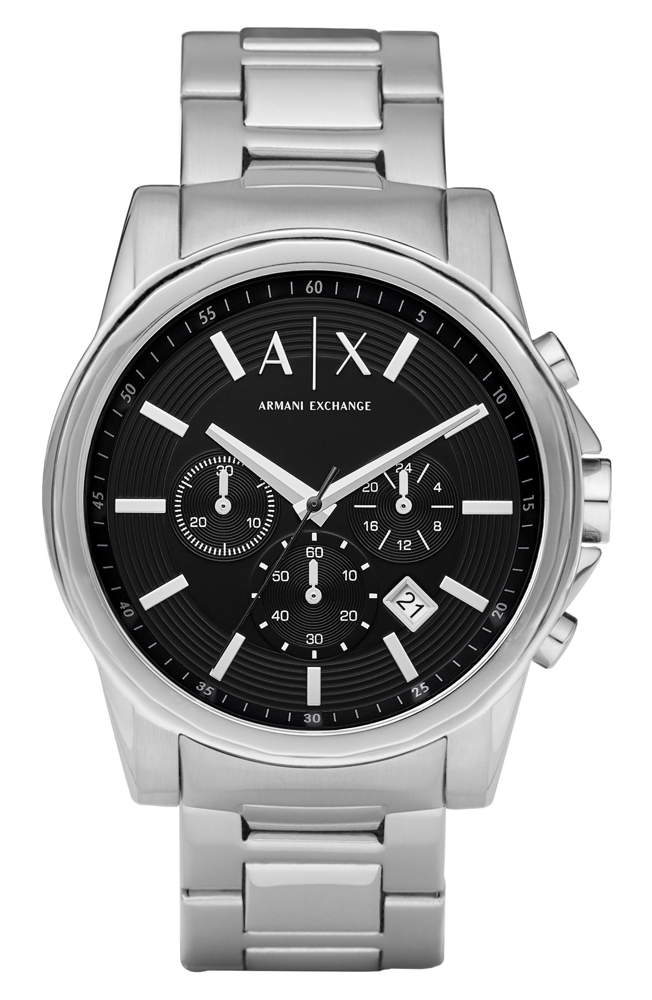 Chronograph Bracelet Watch, 45mm,                             Main thumbnail 1, color,                             040