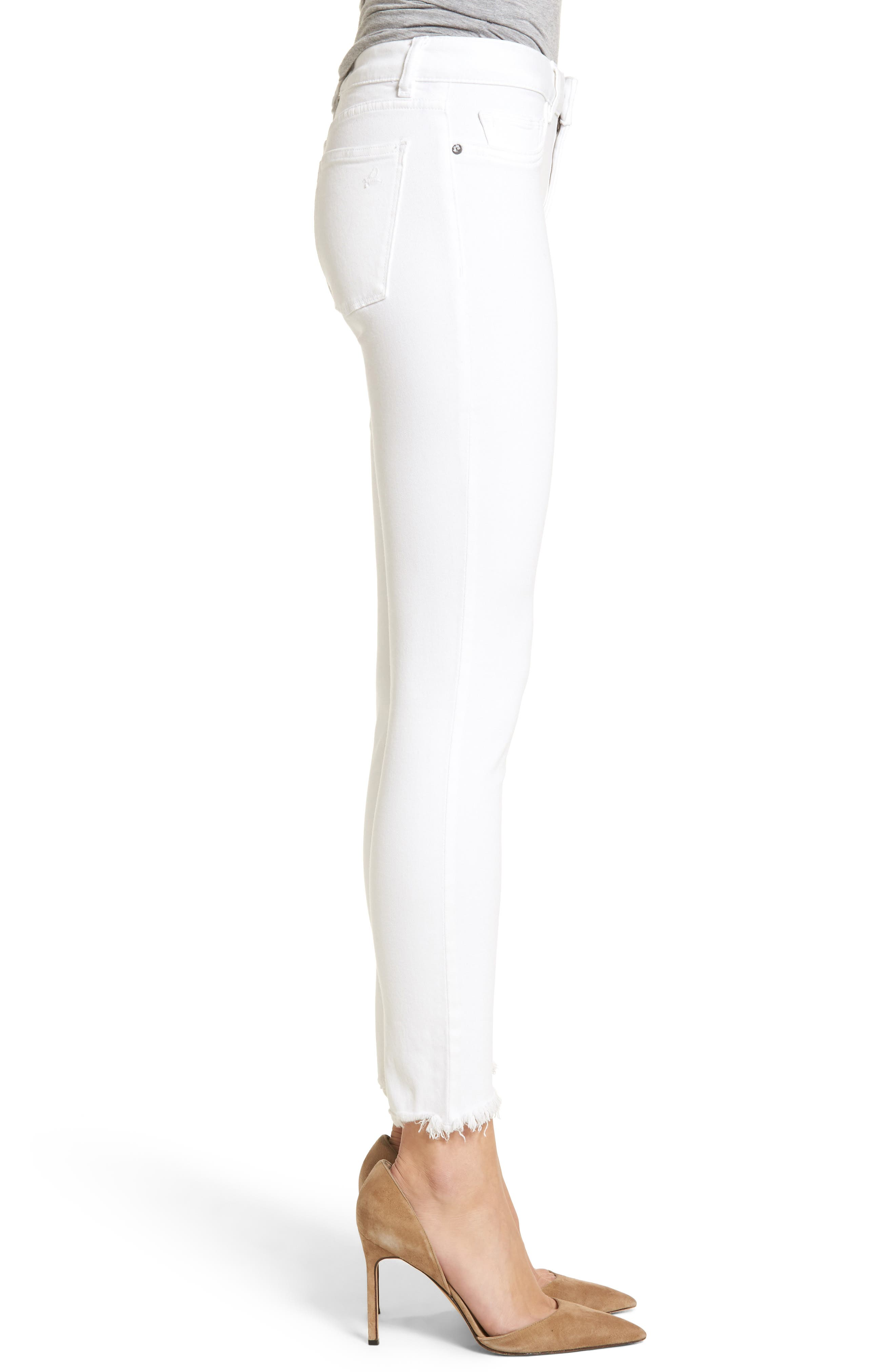 Margaux Instasculpt Ankle Skinny Jeans,                             Alternate thumbnail 3, color,                             100