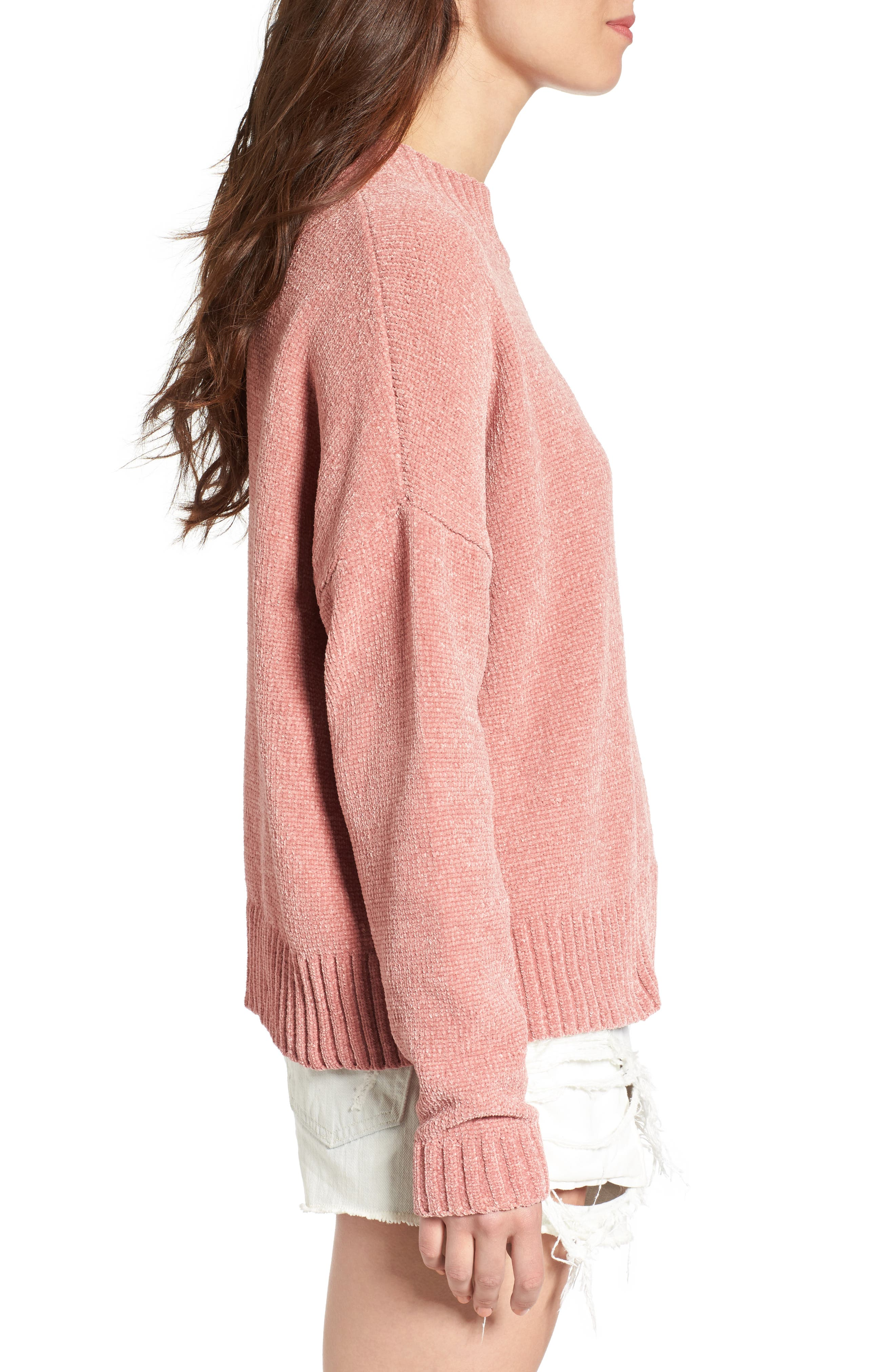 Chenille Funnel Neck Sweater,                             Alternate thumbnail 14, color,
