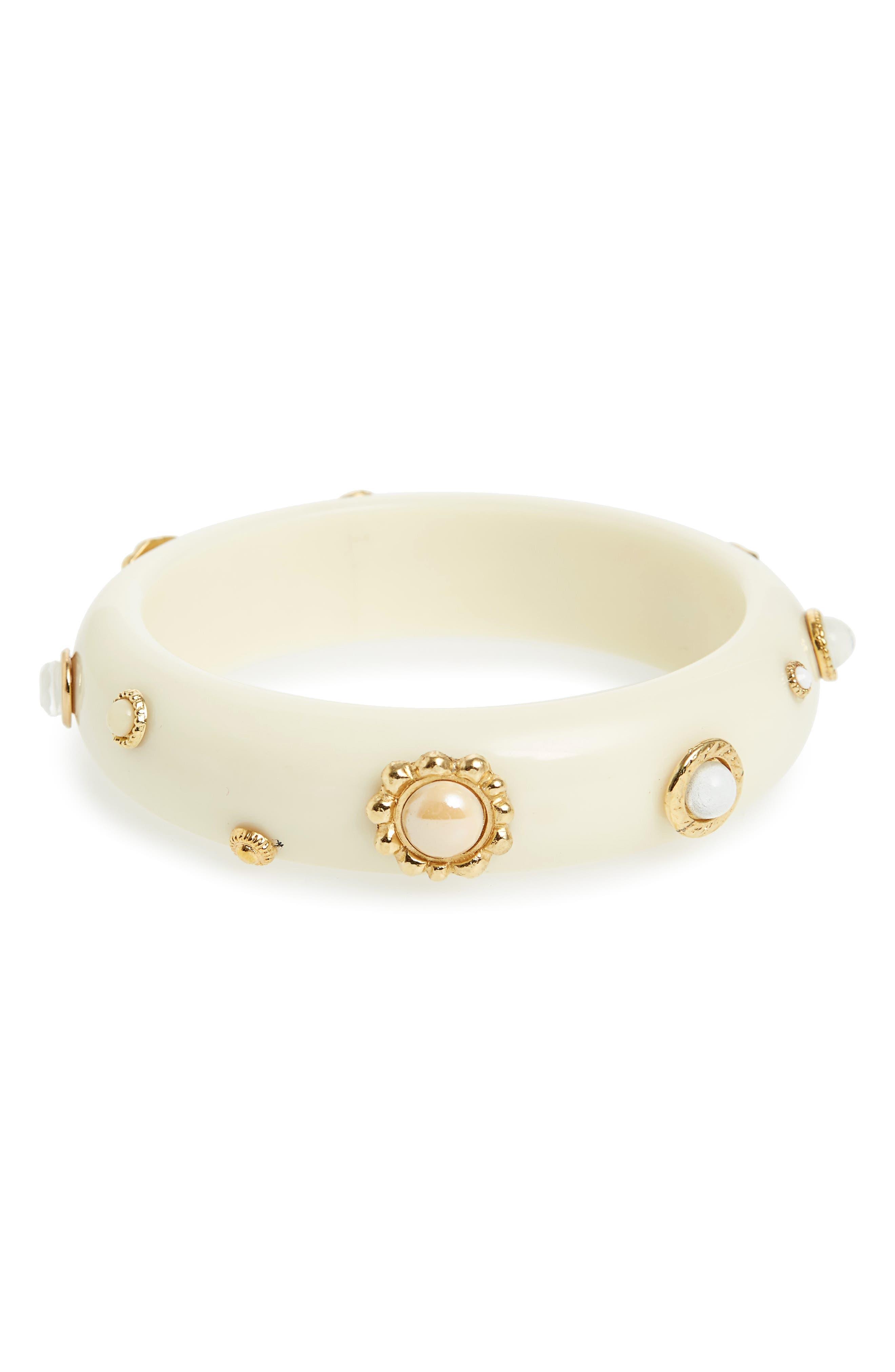 Bangle Bracelet,                         Main,                         color, WHITE
