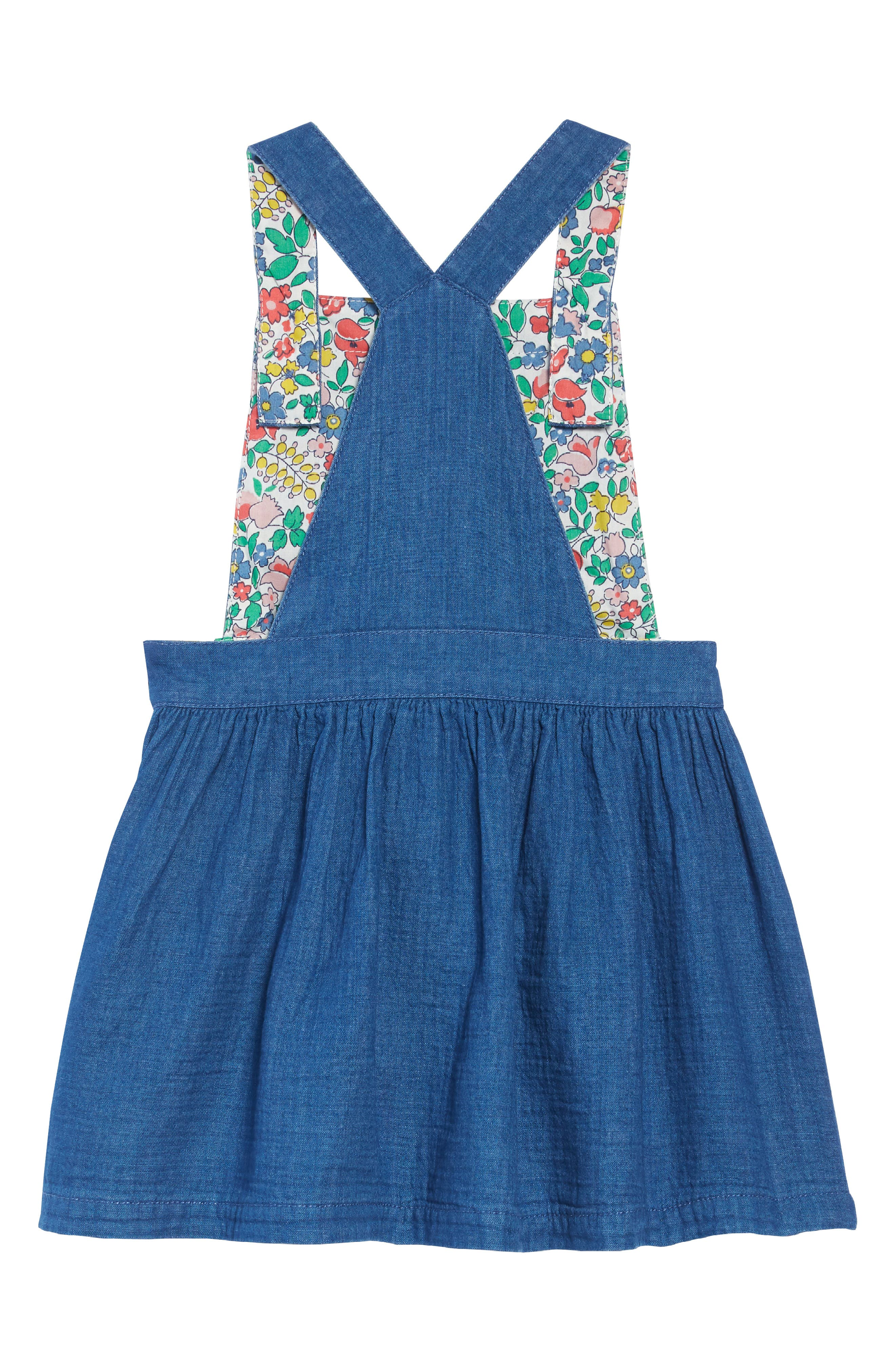 Dungaree Overall Dress,                             Alternate thumbnail 2, color,                             INDIGO BLUE