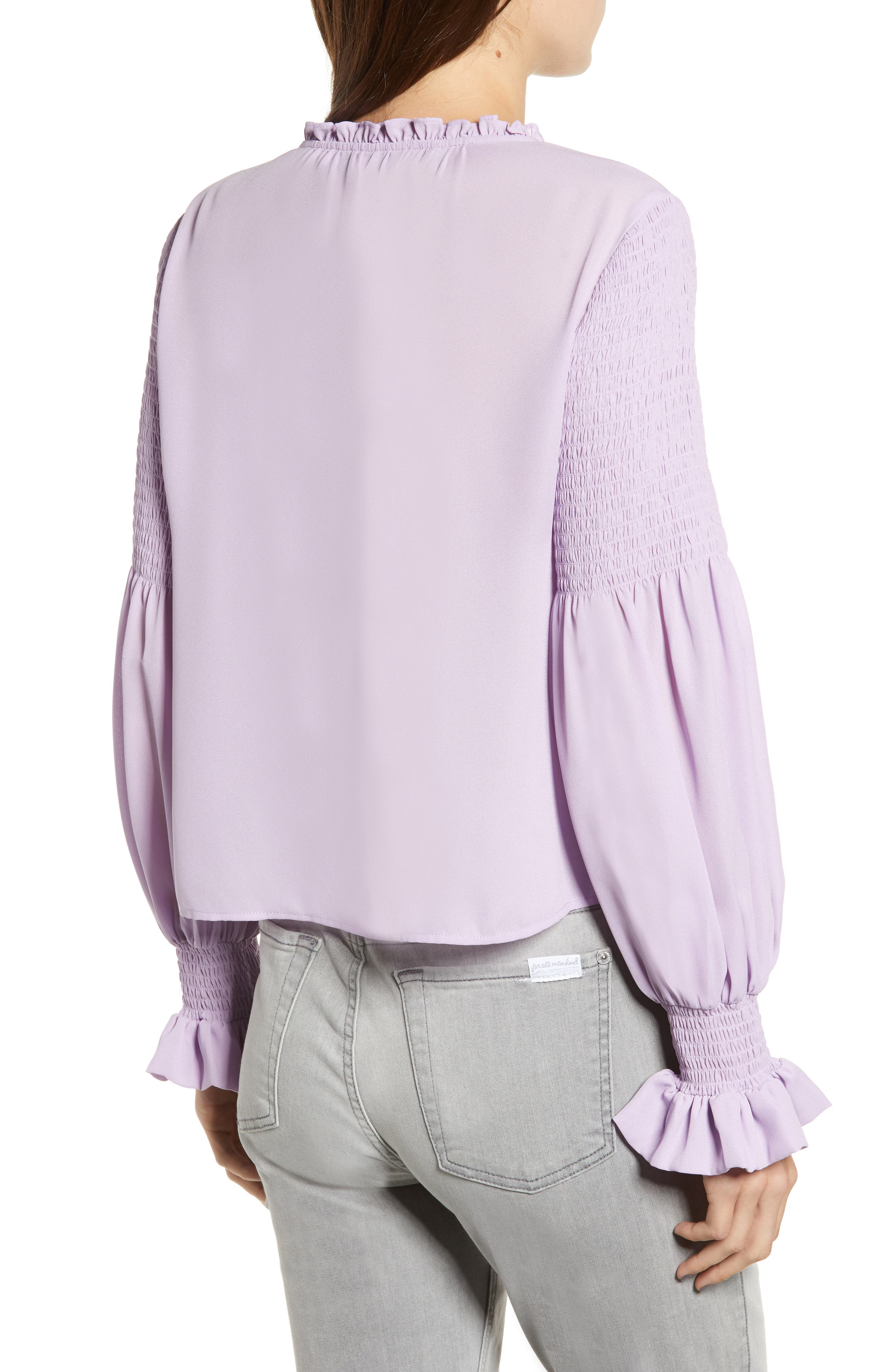 Penelope Ruffle Top,                             Alternate thumbnail 2, color,                             LILAC