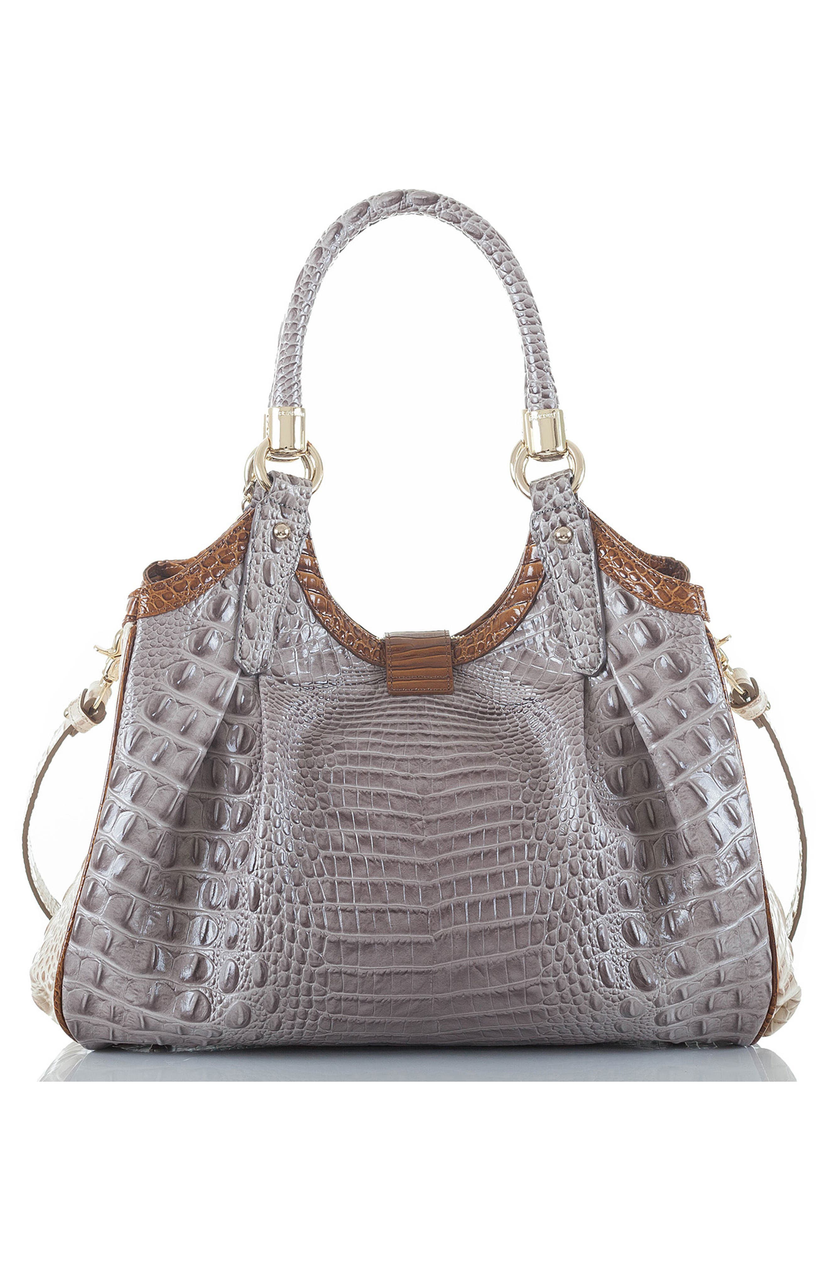 Elisa Croc Embossed Leather Shoulder Bag,                             Alternate thumbnail 2, color,                             032