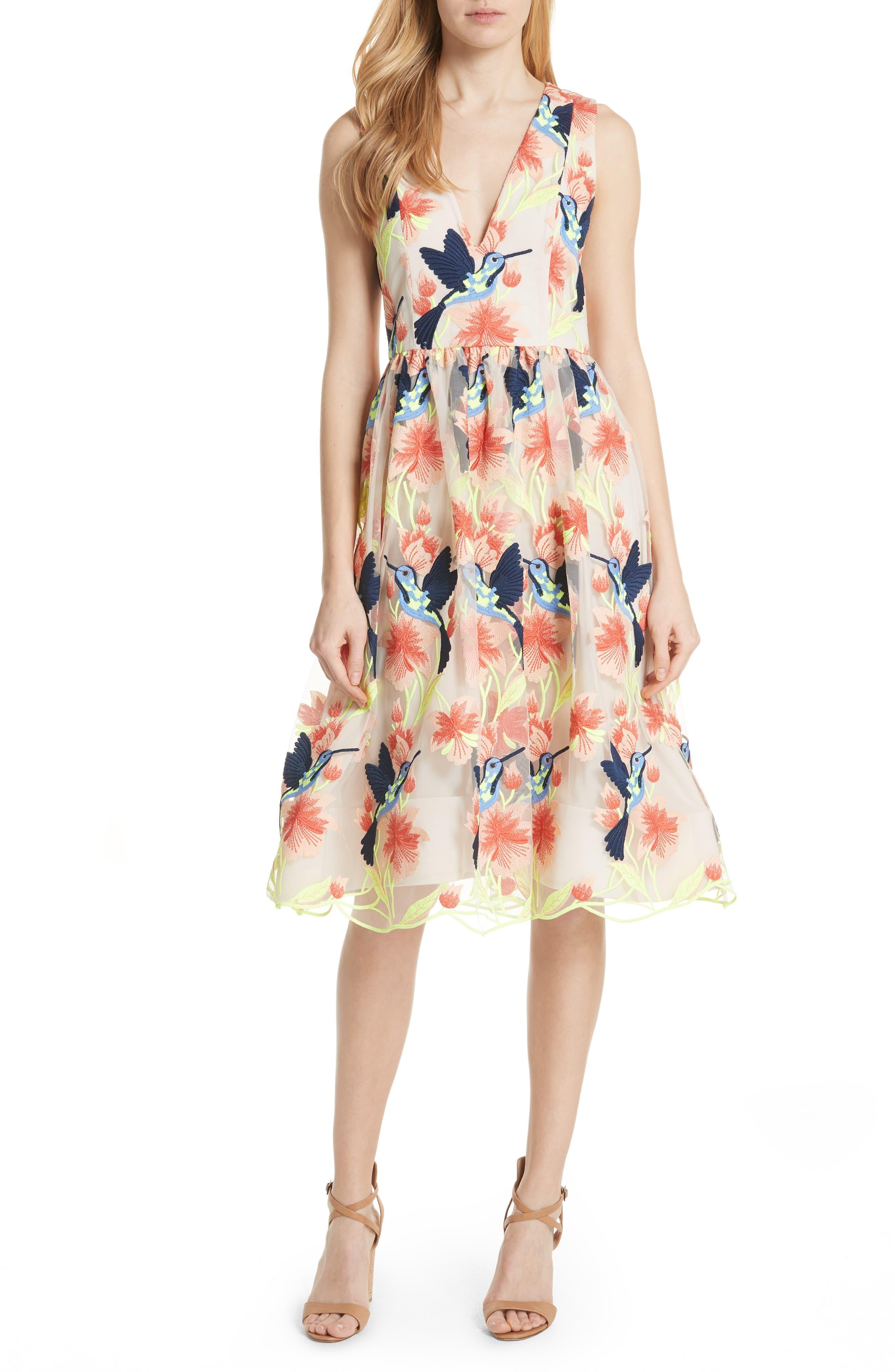 Becca Hummingbird Dress,                             Alternate thumbnail 5, color,                             260