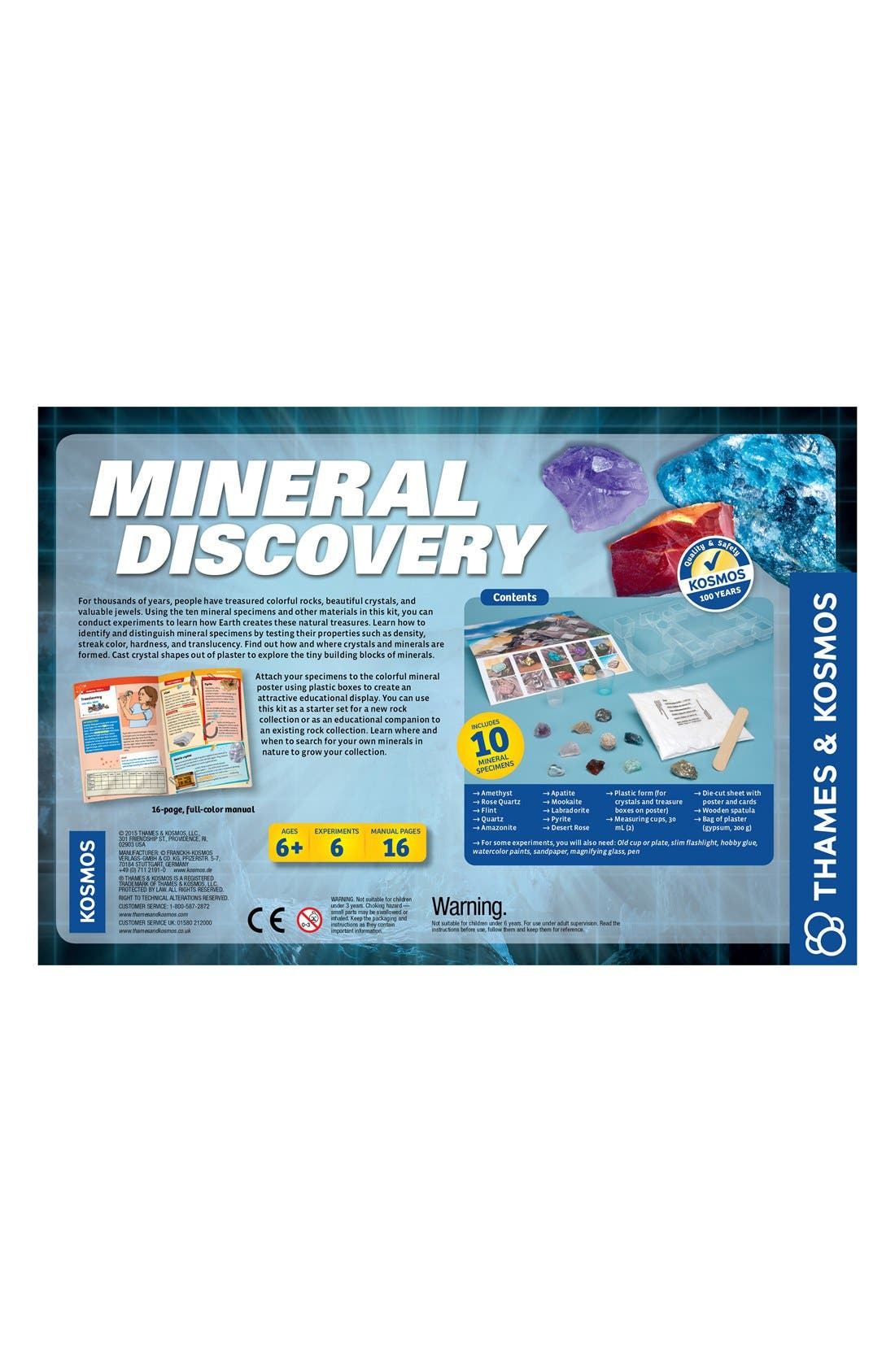 'Mineral Discovery' Experiment Kit,                             Alternate thumbnail 3, color,                             BLUE