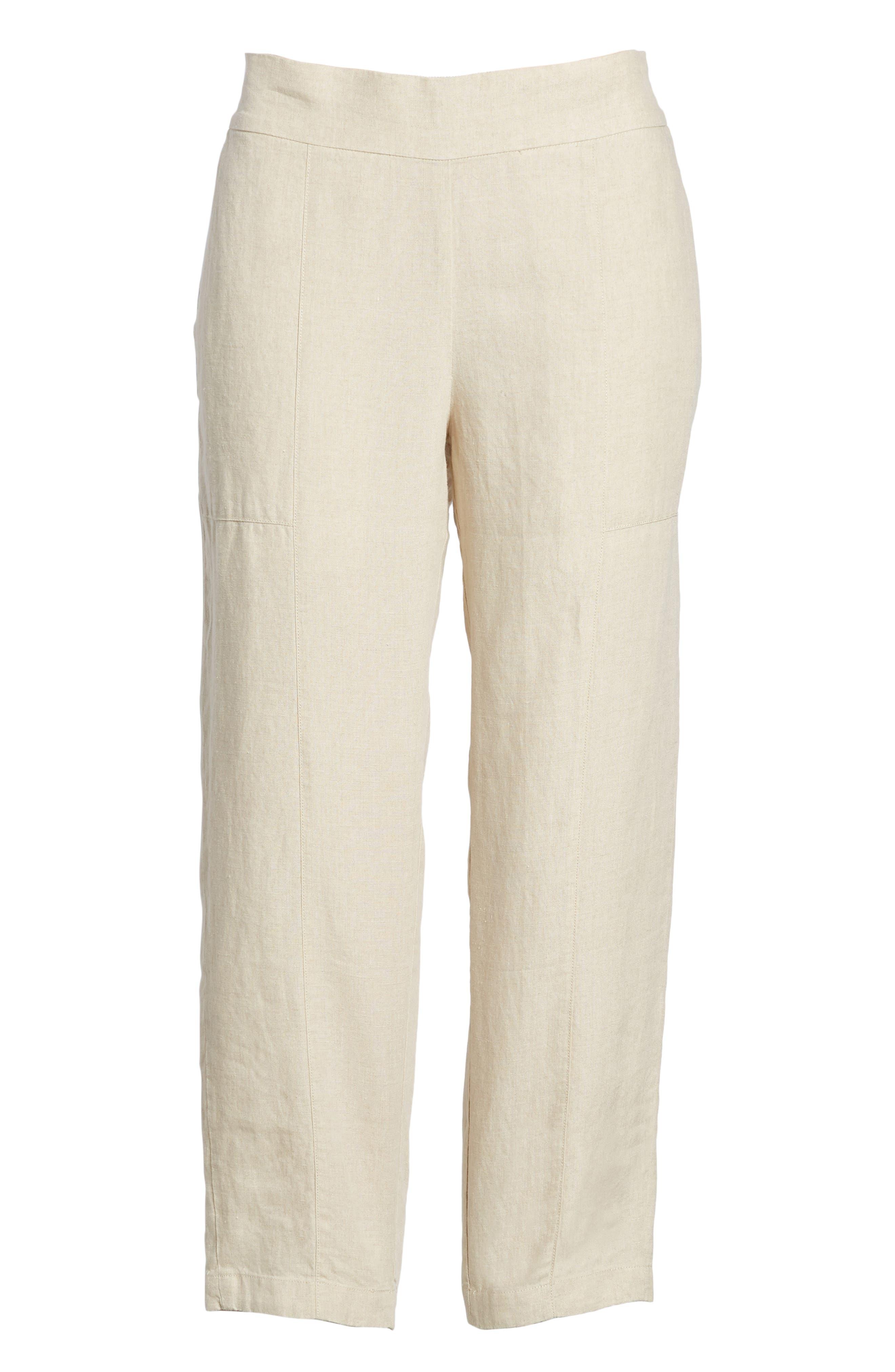 Organic Linen Crop Pants,                             Alternate thumbnail 25, color,