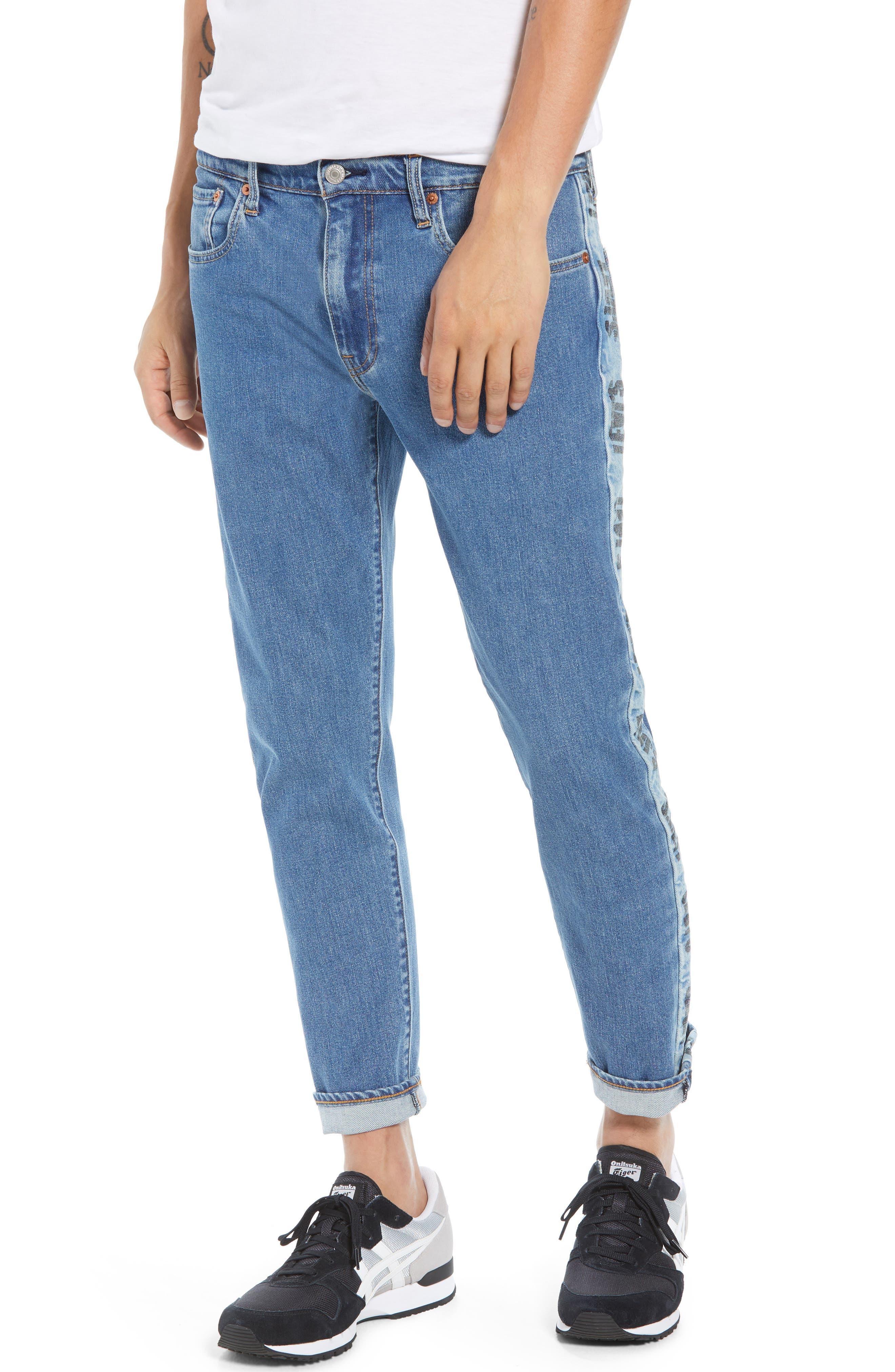 Hi-Ball Straight Leg Jeans,                             Main thumbnail 1, color,                             MEDIUM BLUE
