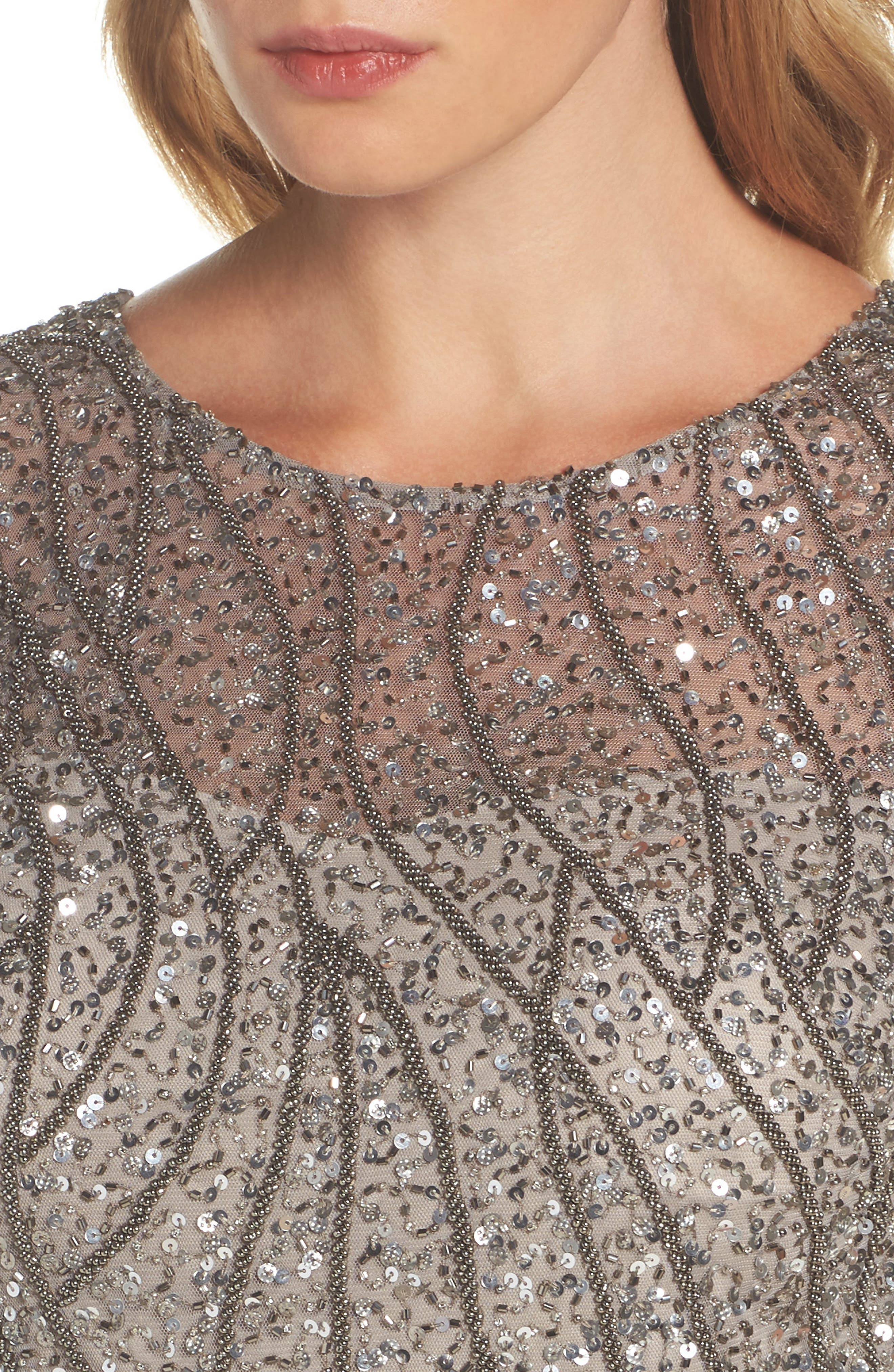 Embellished Bodice Gown,                             Alternate thumbnail 4, color,                             046