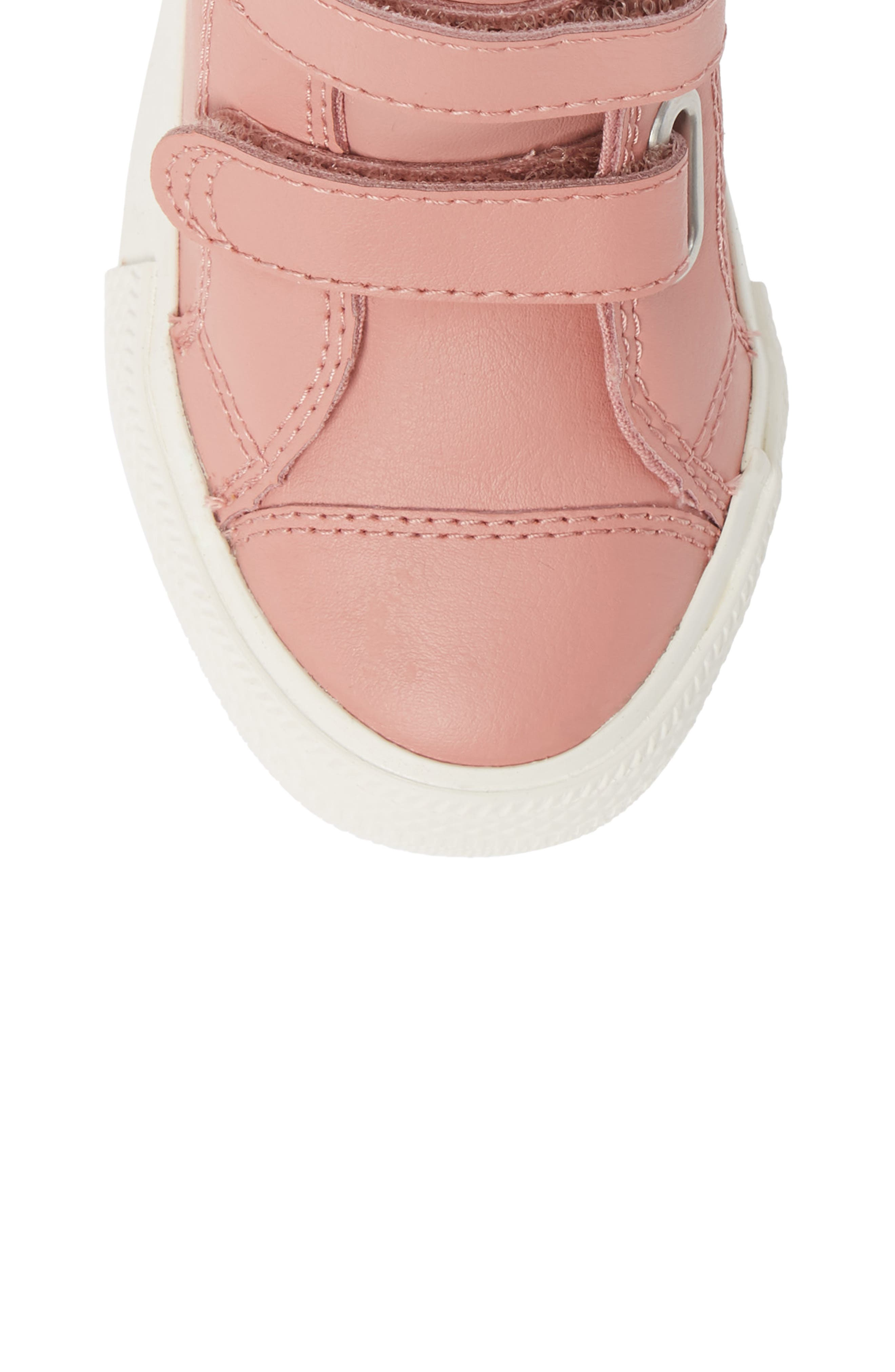 Chuck Taylor<sup>®</sup> All Star<sup>®</sup> 2V Leather High Top Sneaker,                             Alternate thumbnail 5, color,                             RUST PINK