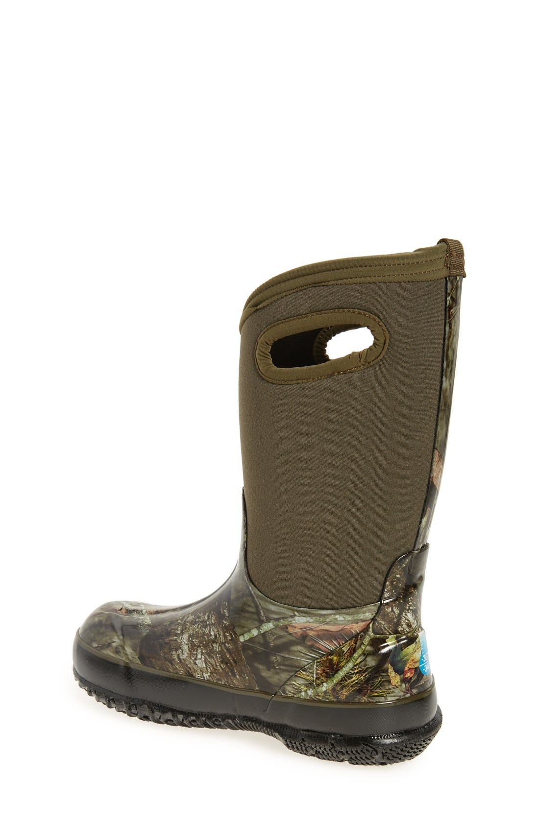 Classic Camo Insulated Waterproof Boot,                             Alternate thumbnail 4, color,