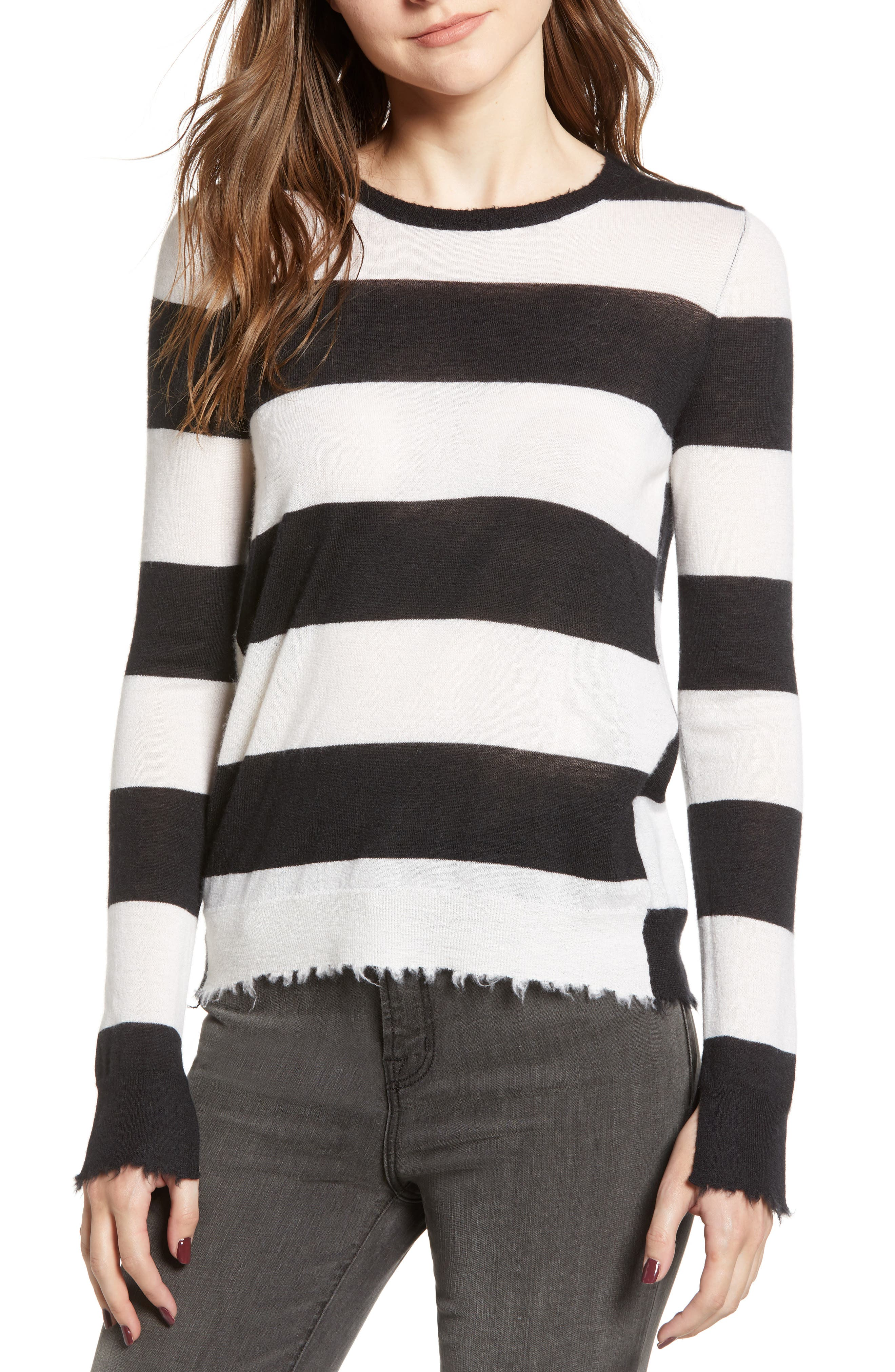 Source Stripe Cashmere Sweater,                             Main thumbnail 1, color,                             001