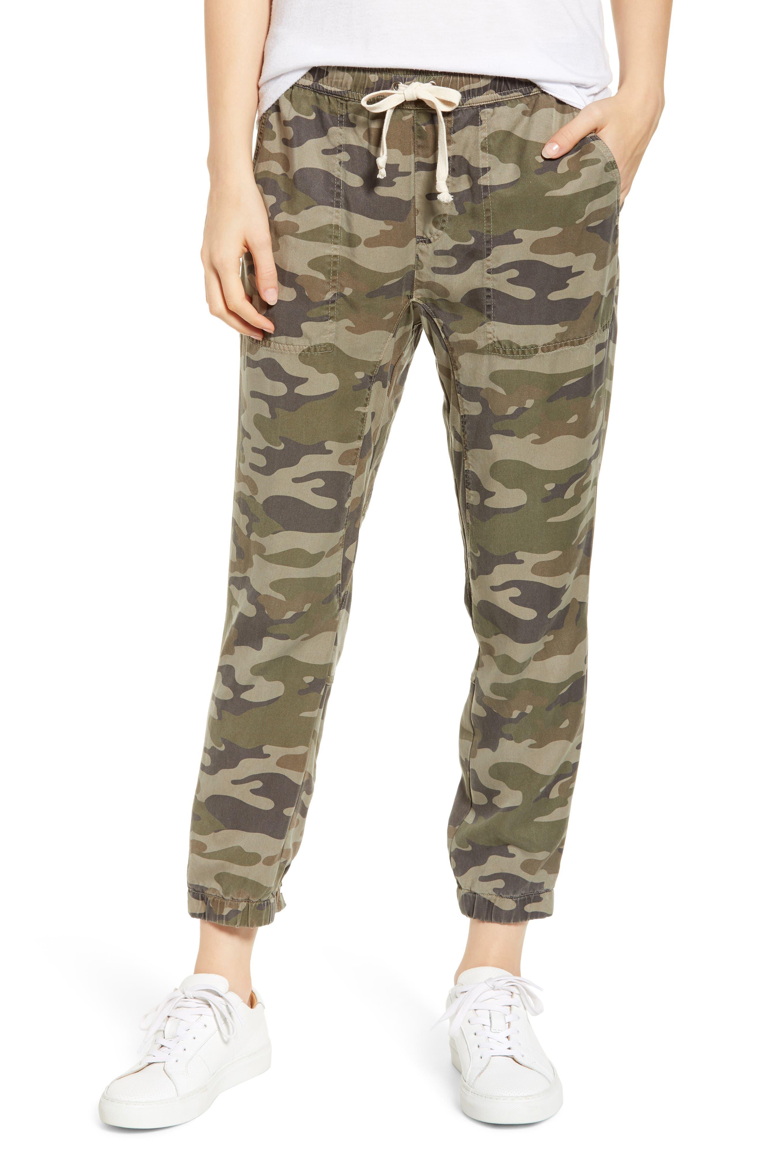 Clay Camo Lace-Up Pants, Main, color, CLAY CAMO