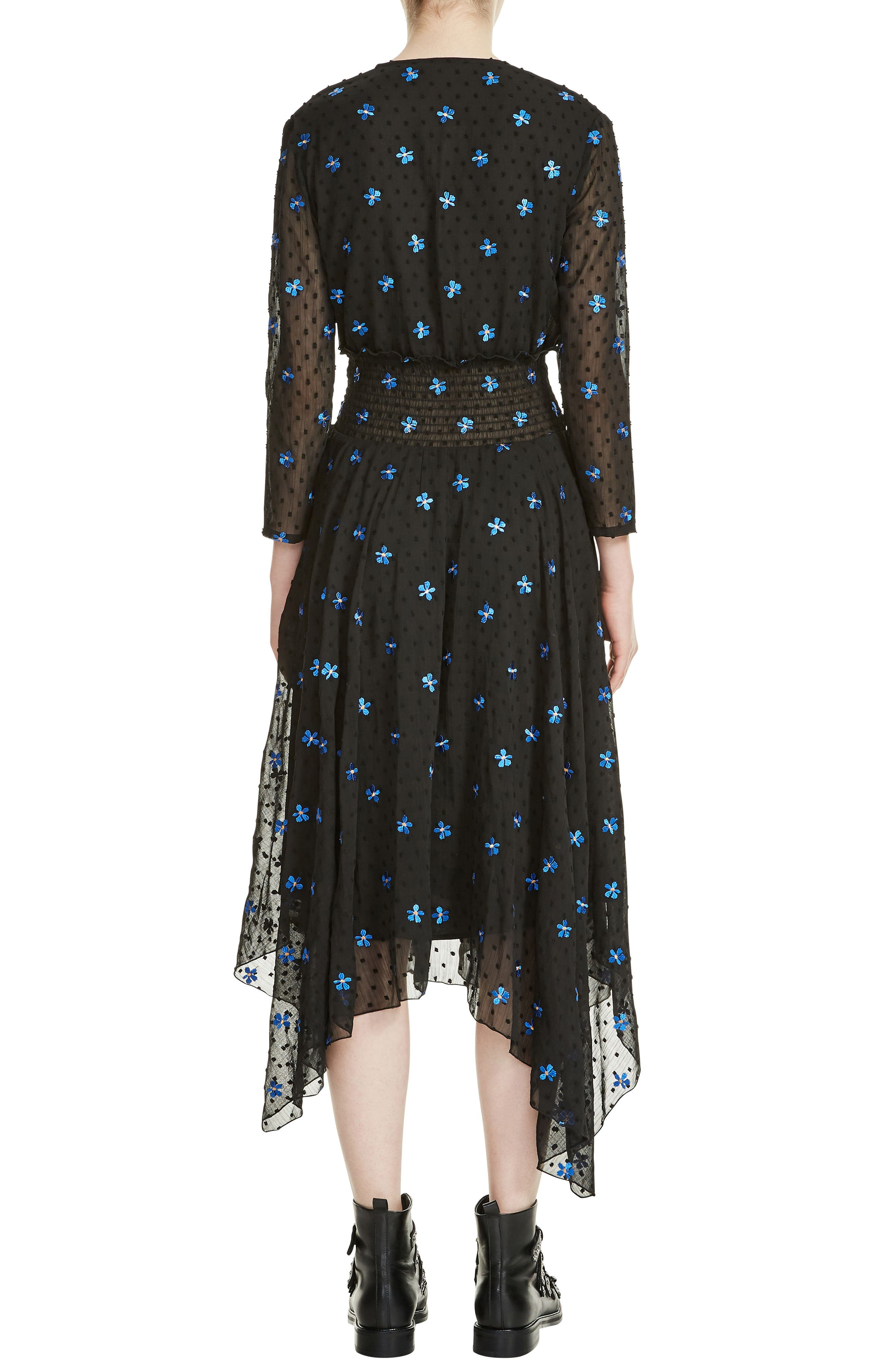 Raiette Embroidered Handkerchief Dress,                             Alternate thumbnail 2, color,