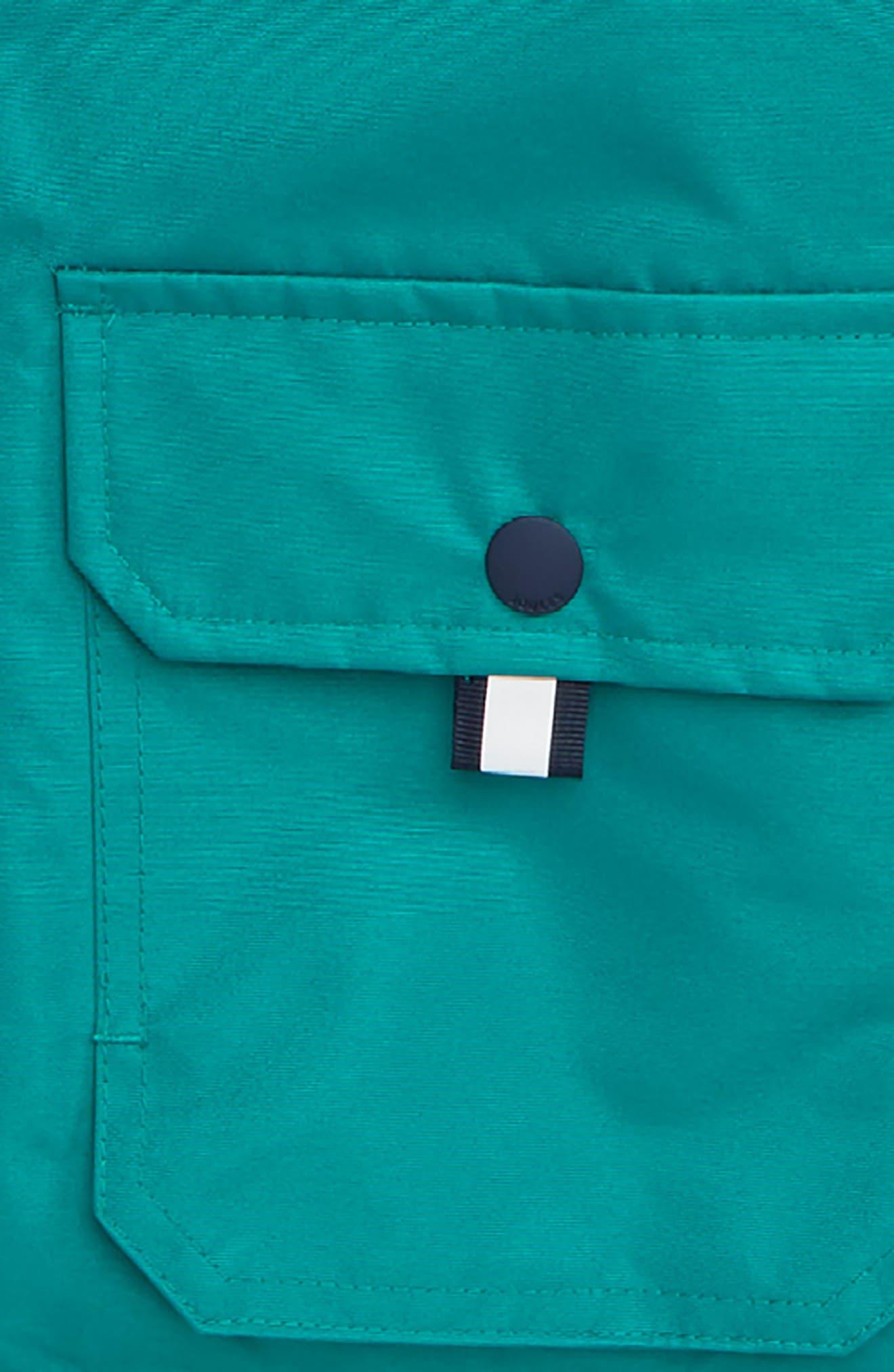 Hooded Waterproof Coat,                             Alternate thumbnail 2, color,                             PINE GREEN