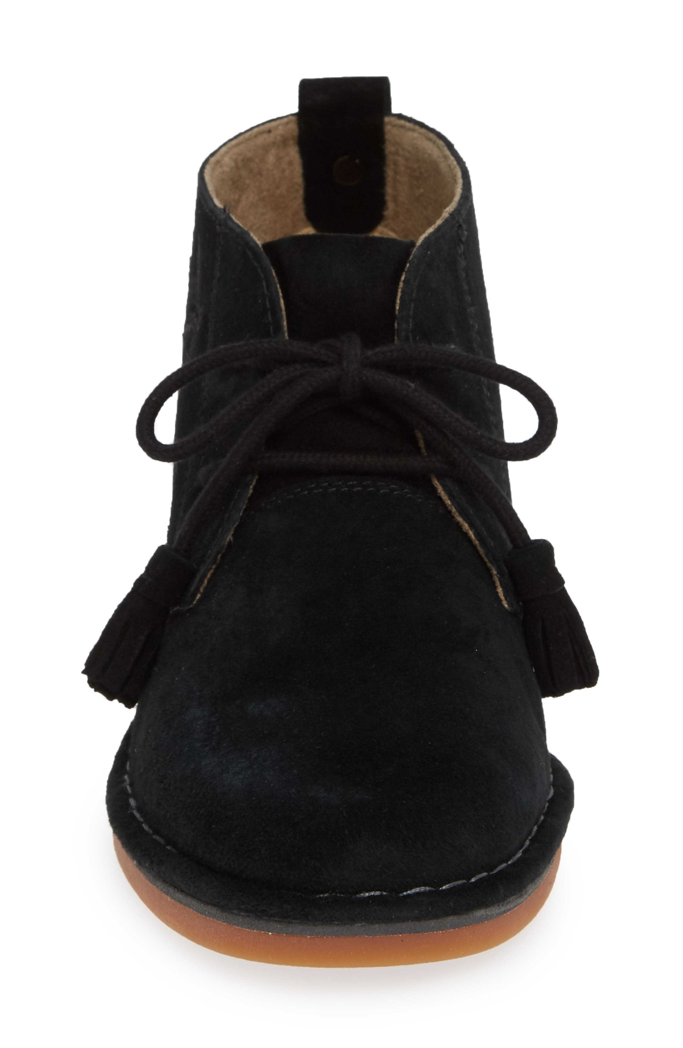HUSH PUPPIES<SUP>®</SUP>,                             Cyra Catelyn Chukka Bootie,                             Alternate thumbnail 4, color,                             BLACK SUEDE