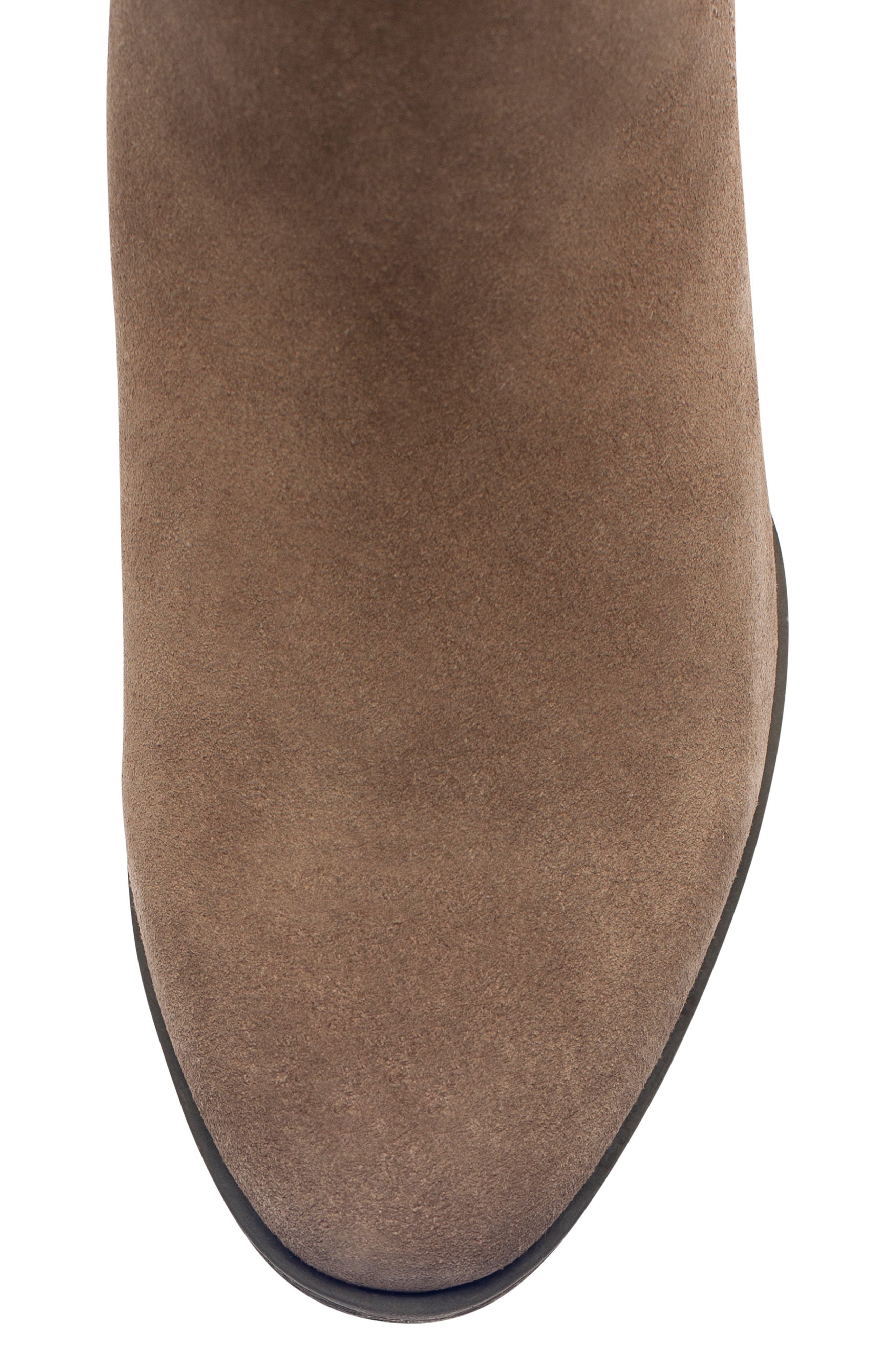 'Valli' Waterproof  Bootie,                             Alternate thumbnail 4, color,                             DARK TAUPE SUEDE