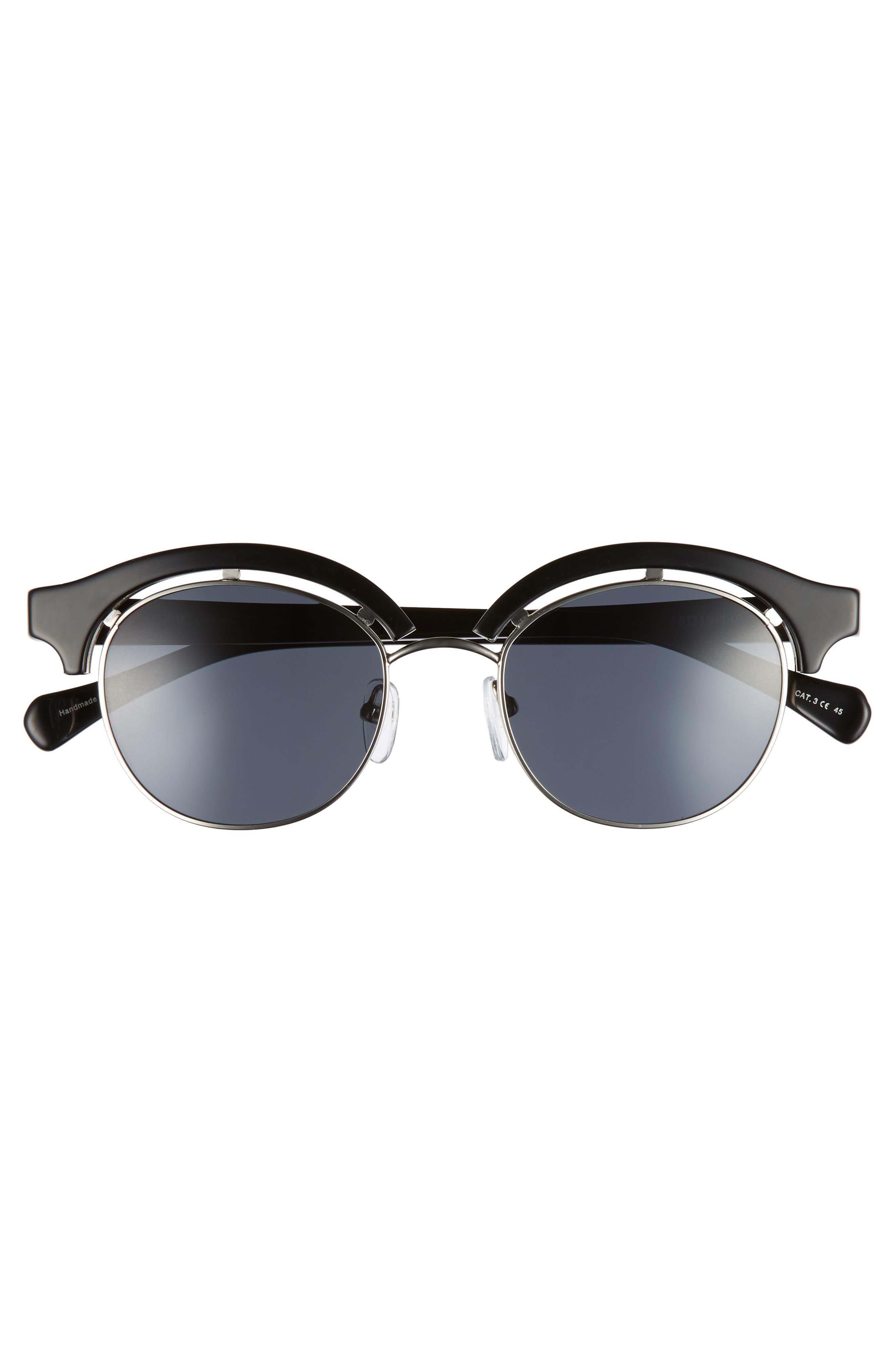 Pomona 48mm Polarized Sunglasses,                             Alternate thumbnail 3, color,                             BLACK POLAR