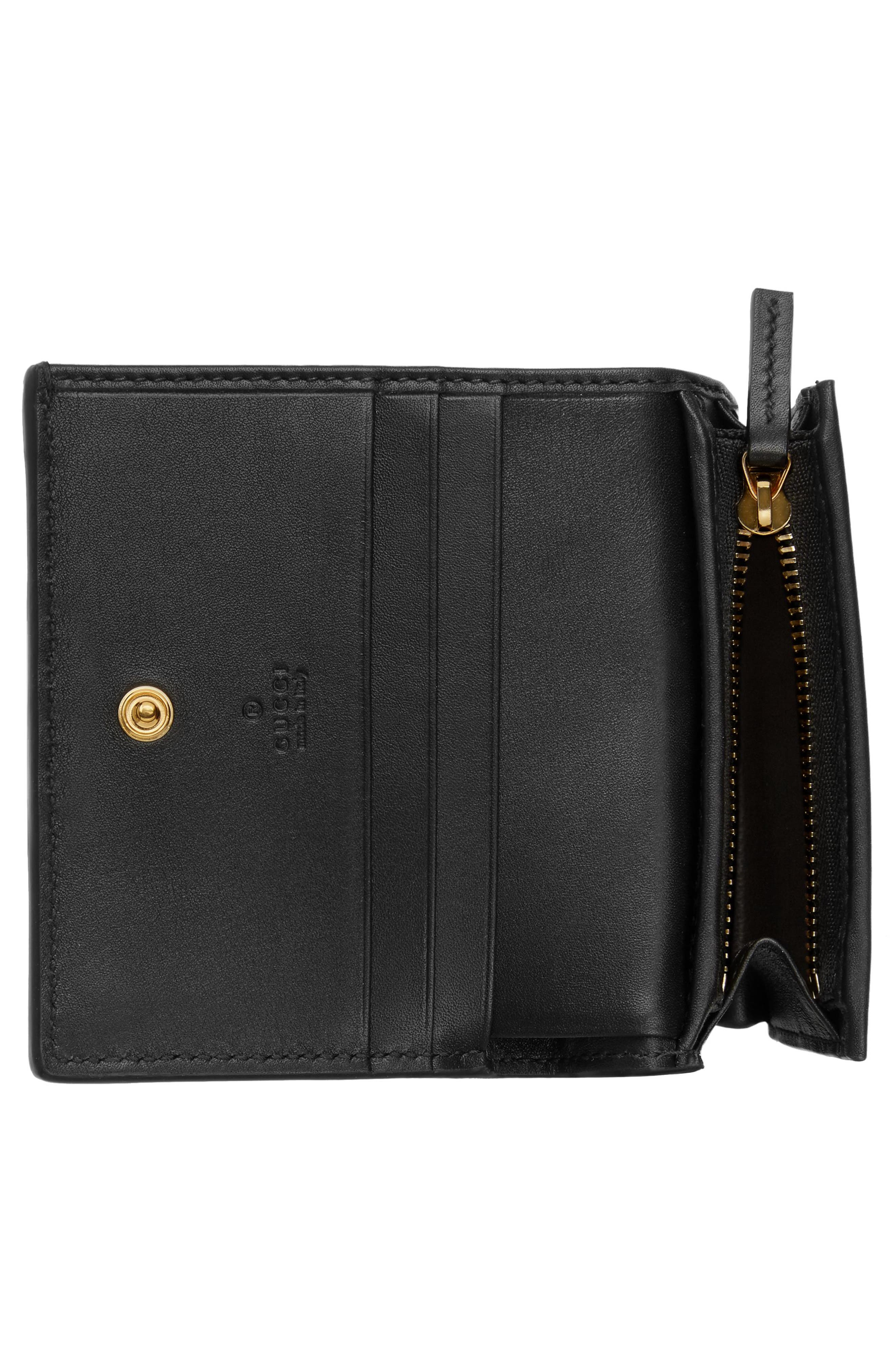 Ophidia Genuine Crocodile Card Case,                             Alternate thumbnail 4, color,                             NERO/ NERO