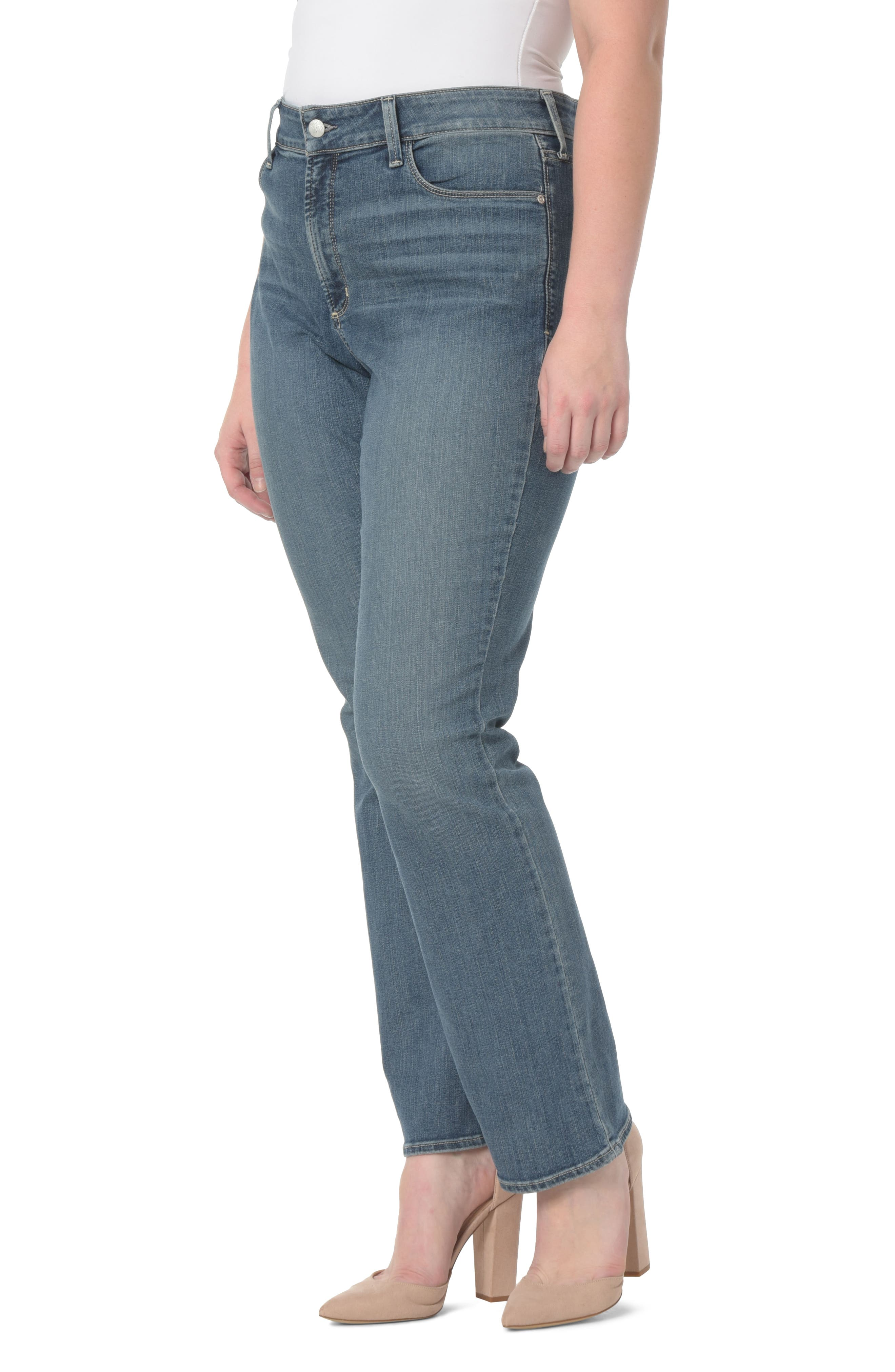 NYDJ,                             Barbara Stretch Bootcut Jeans,                             Main thumbnail 1, color,                             421