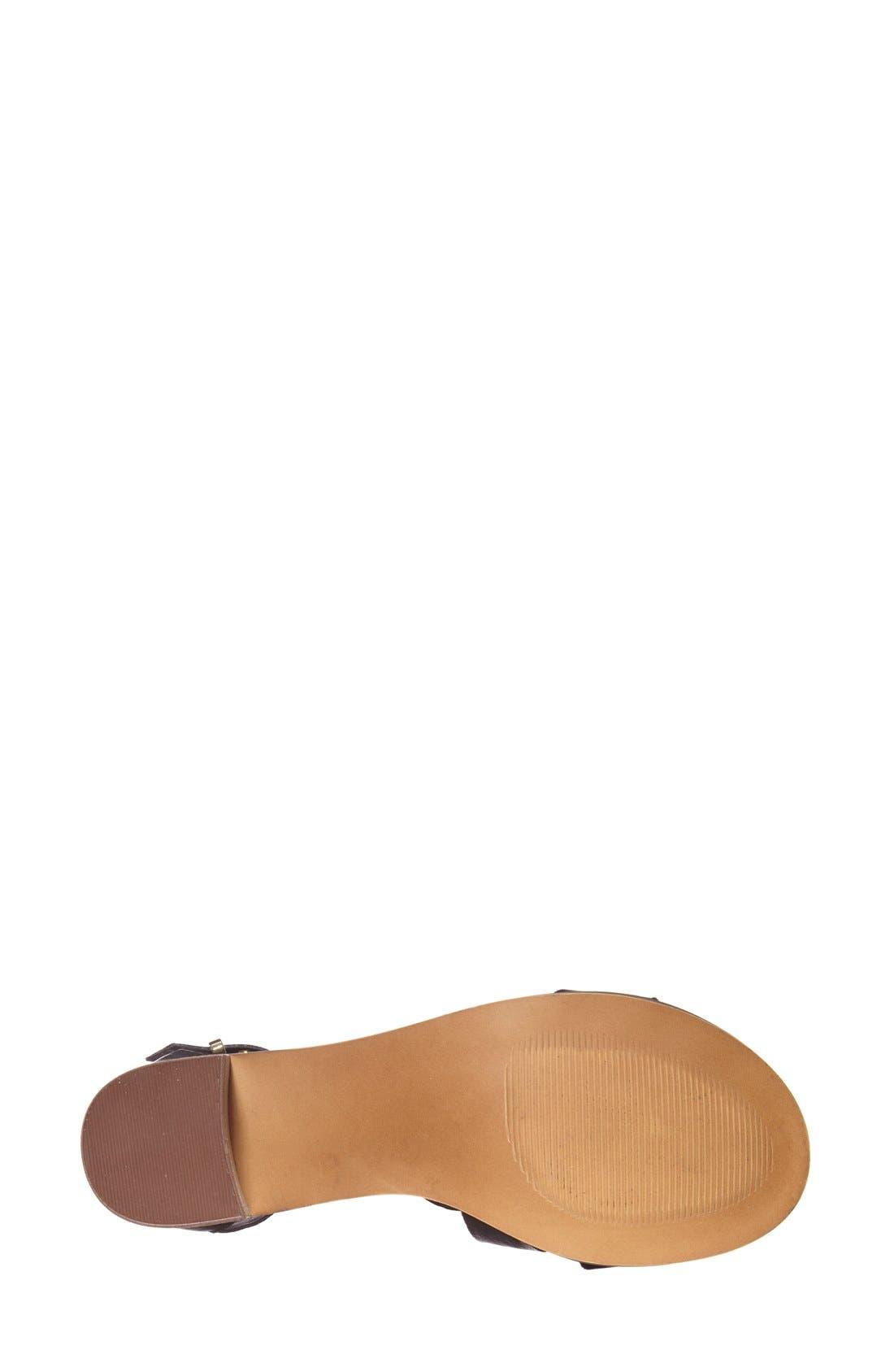 'Rosana' Double Ankle Strap Leather Sandal,                             Alternate thumbnail 2, color,                             001