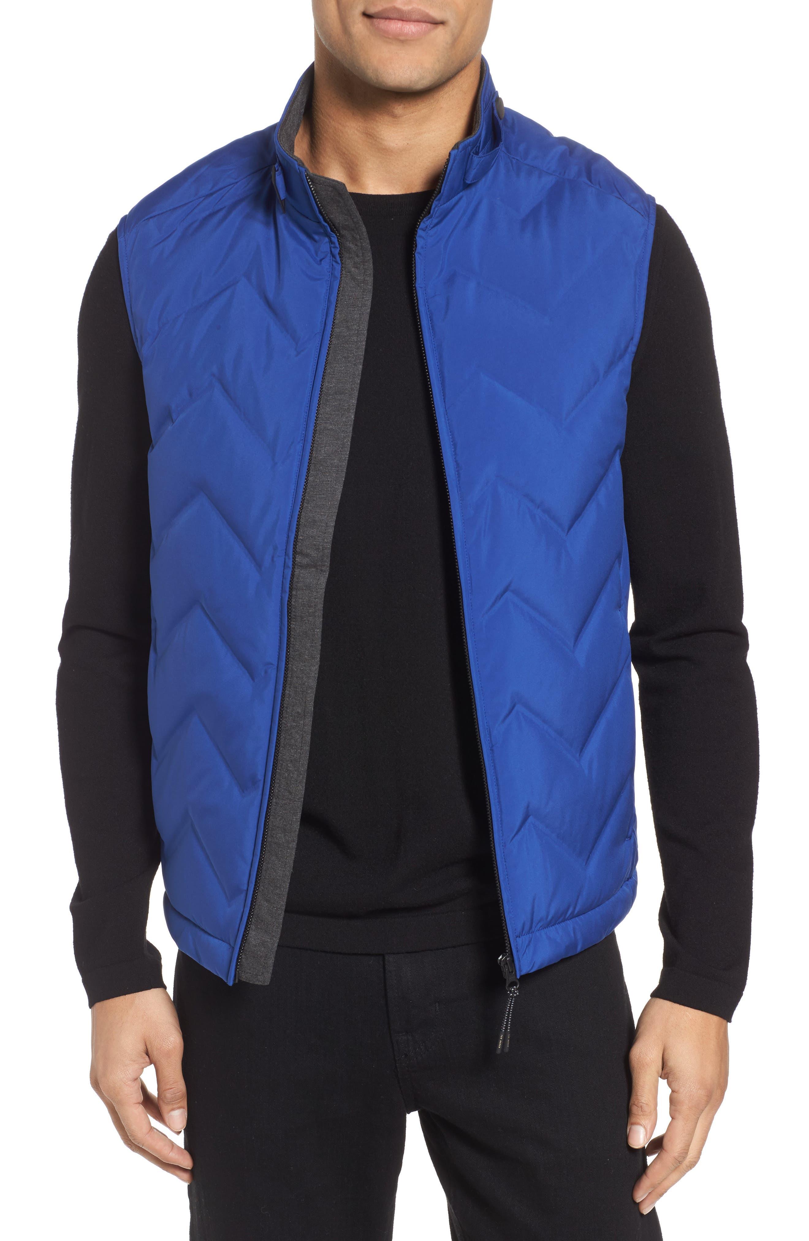 Hobart Down Vest,                         Main,                         color, BRIGHT BLUE