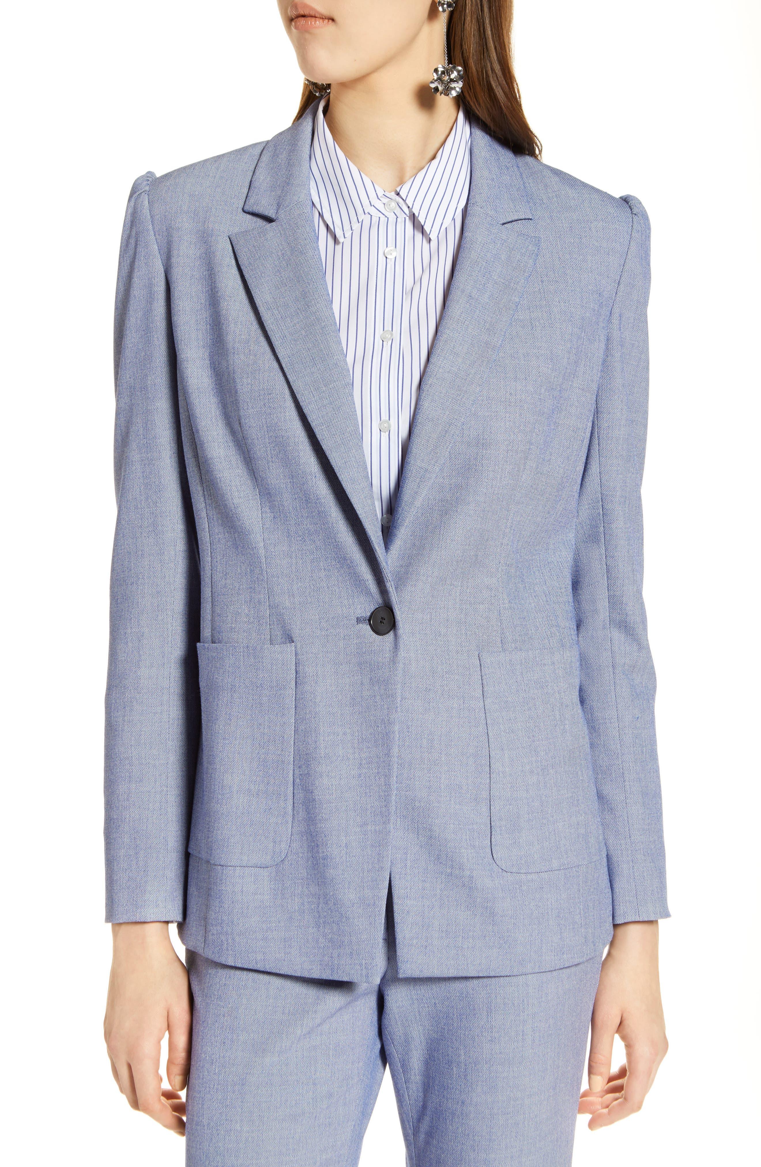 Stretch Woven Suit Blazer,                             Alternate thumbnail 4, color,                             400