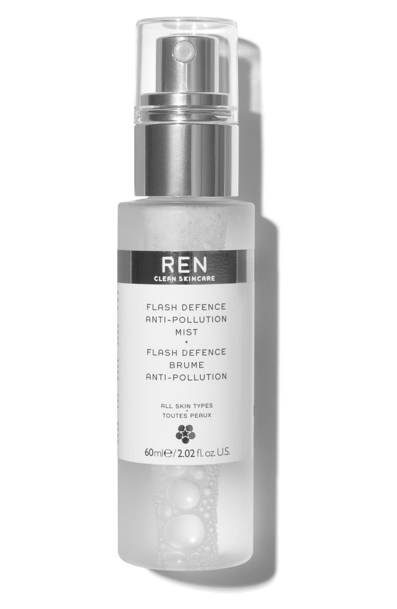 SPACE.NK.apothecary REN Flash Defence Anti-Pollution Mist,                             Main thumbnail 1, color,                             NO COLOR