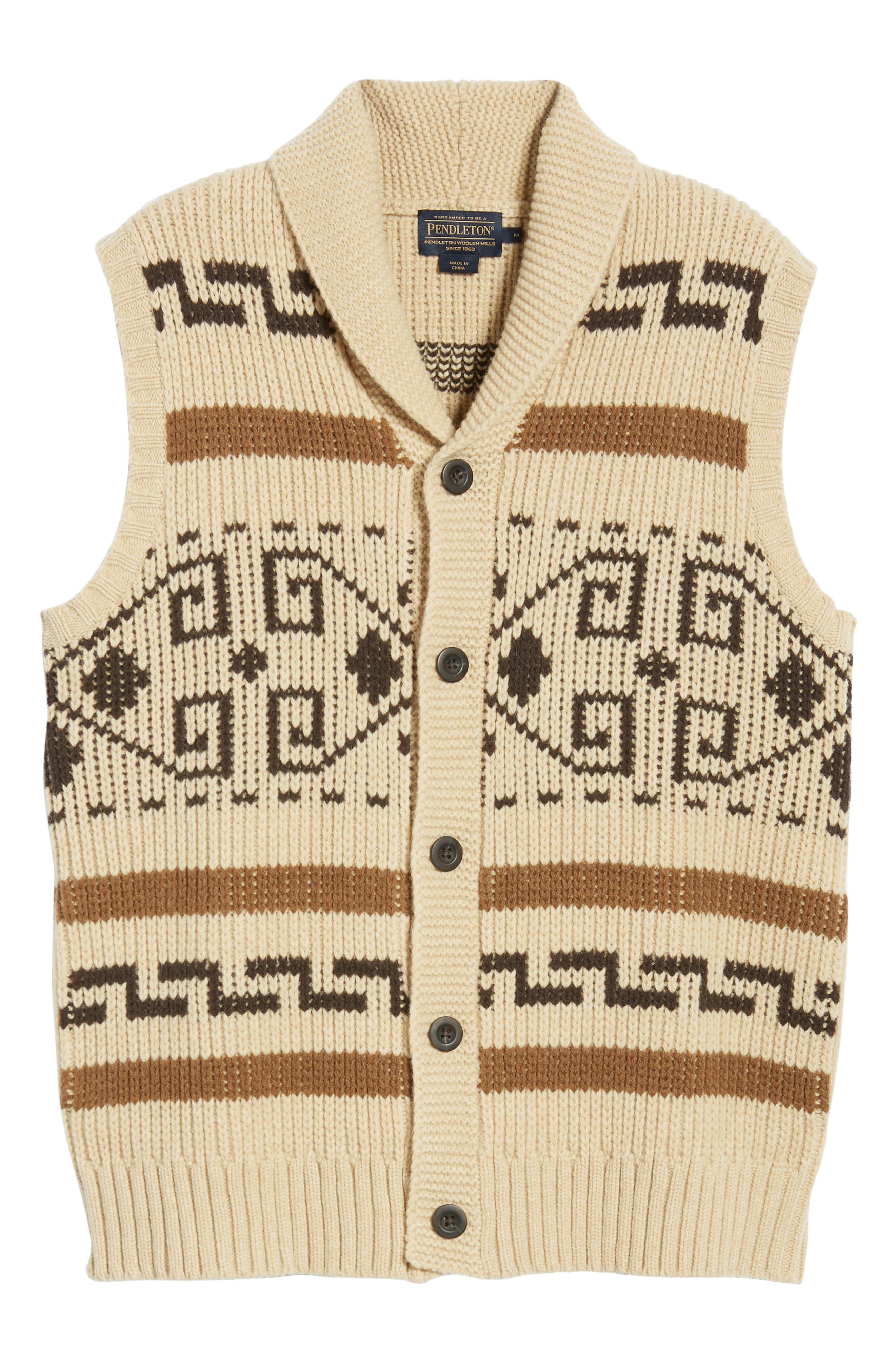 Original Westerley Sweater Vest,                             Alternate thumbnail 5, color,                             TAN/ BROWN