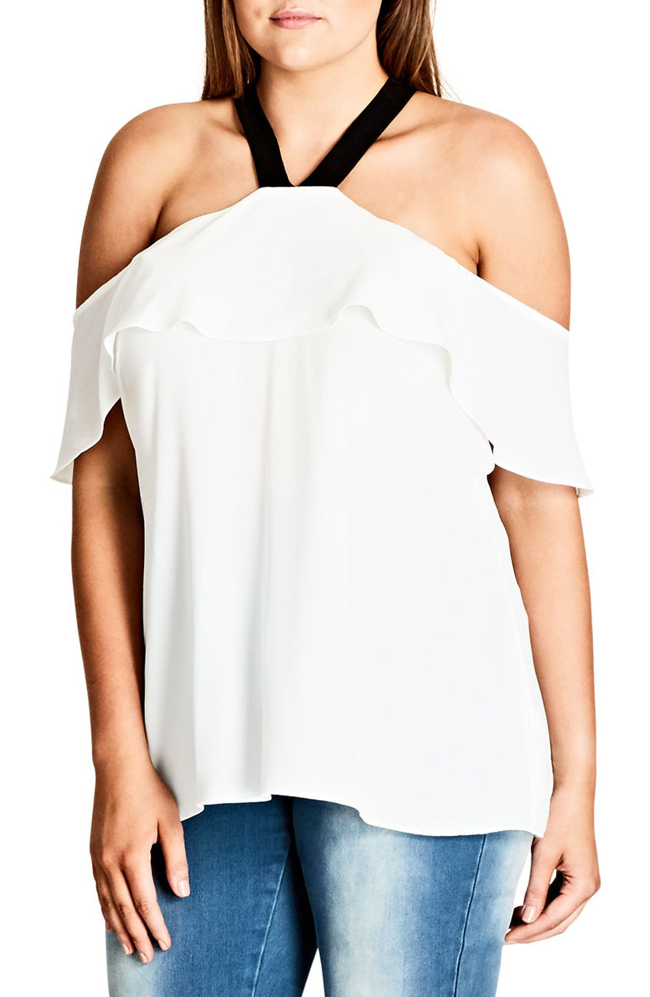 Ashi Off the Shoulder Top,                             Main thumbnail 2, color,