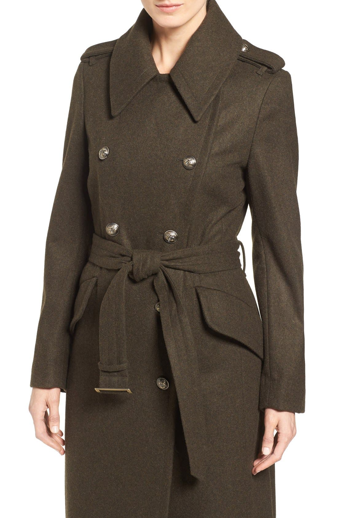 Double Breasted Trench Coat,                             Alternate thumbnail 5, color,                             310