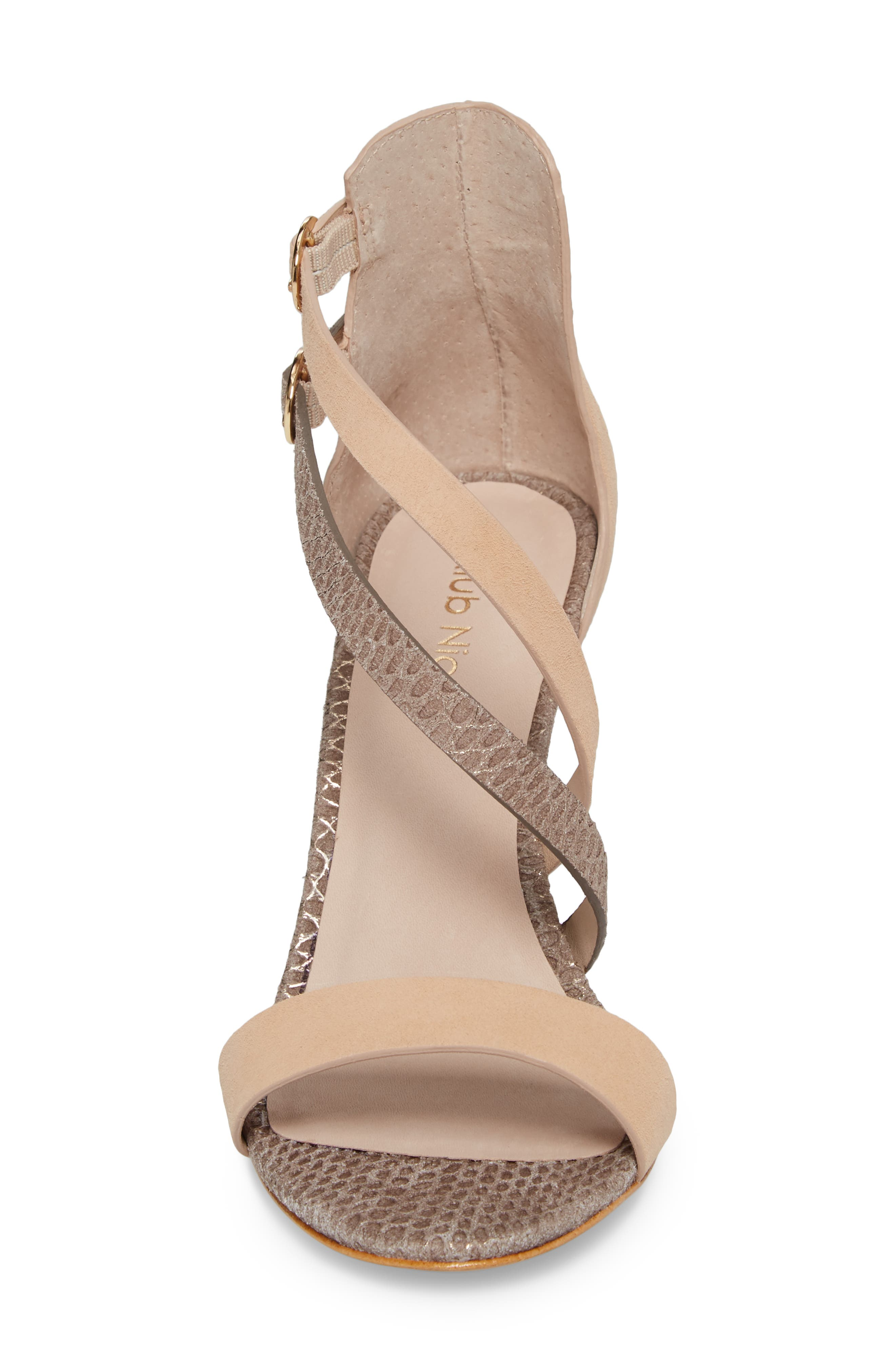 Arden Sandal,                             Alternate thumbnail 4, color,                             PEONY/ PEWTER EMBOSSED LEATHER