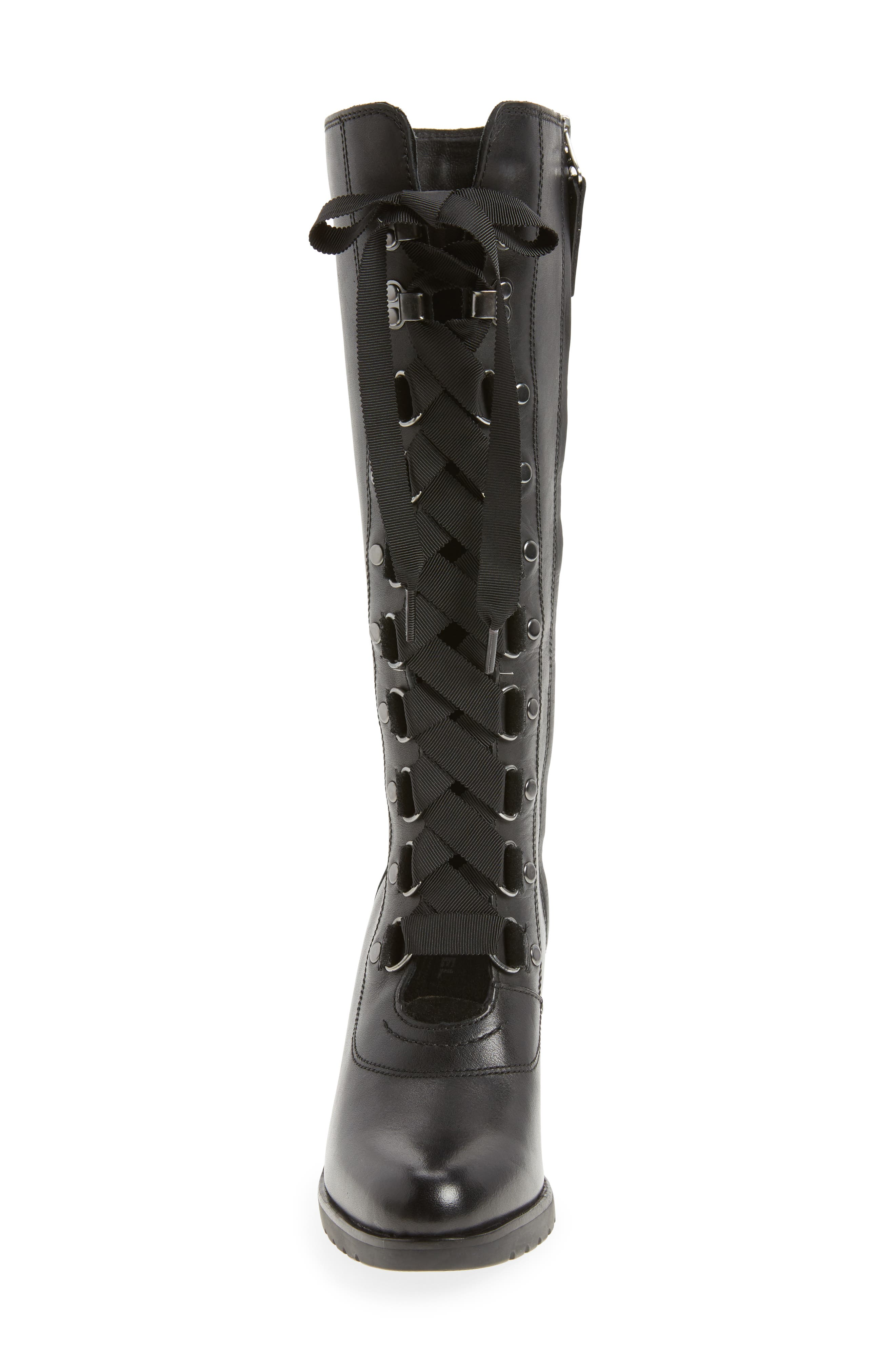 After Hours Lace Up Wedge Boot,                             Alternate thumbnail 4, color,                             010