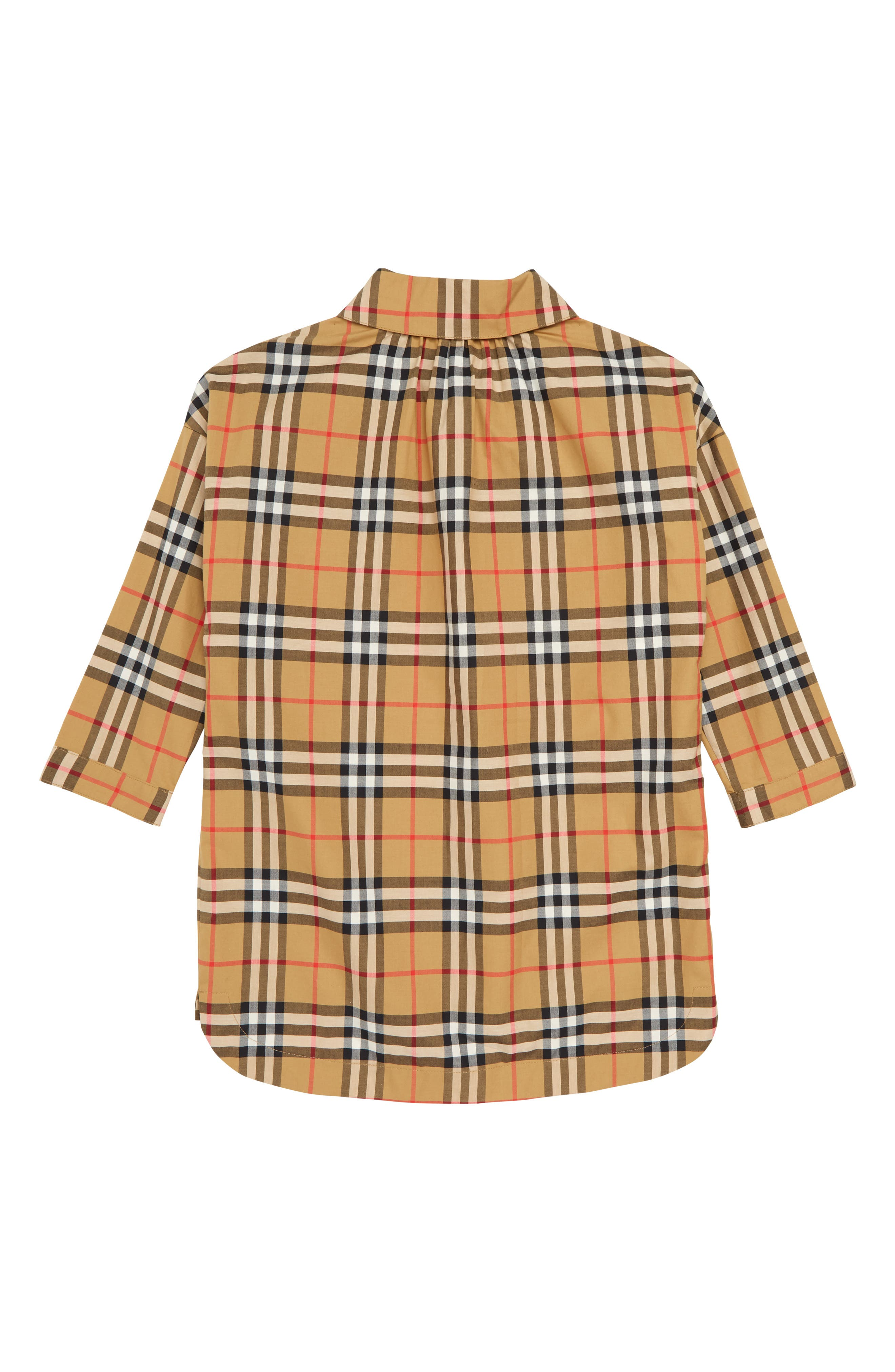 MaryAlice Check Smock Shirt,                             Alternate thumbnail 2, color,                             ANTIQUE YELLOW