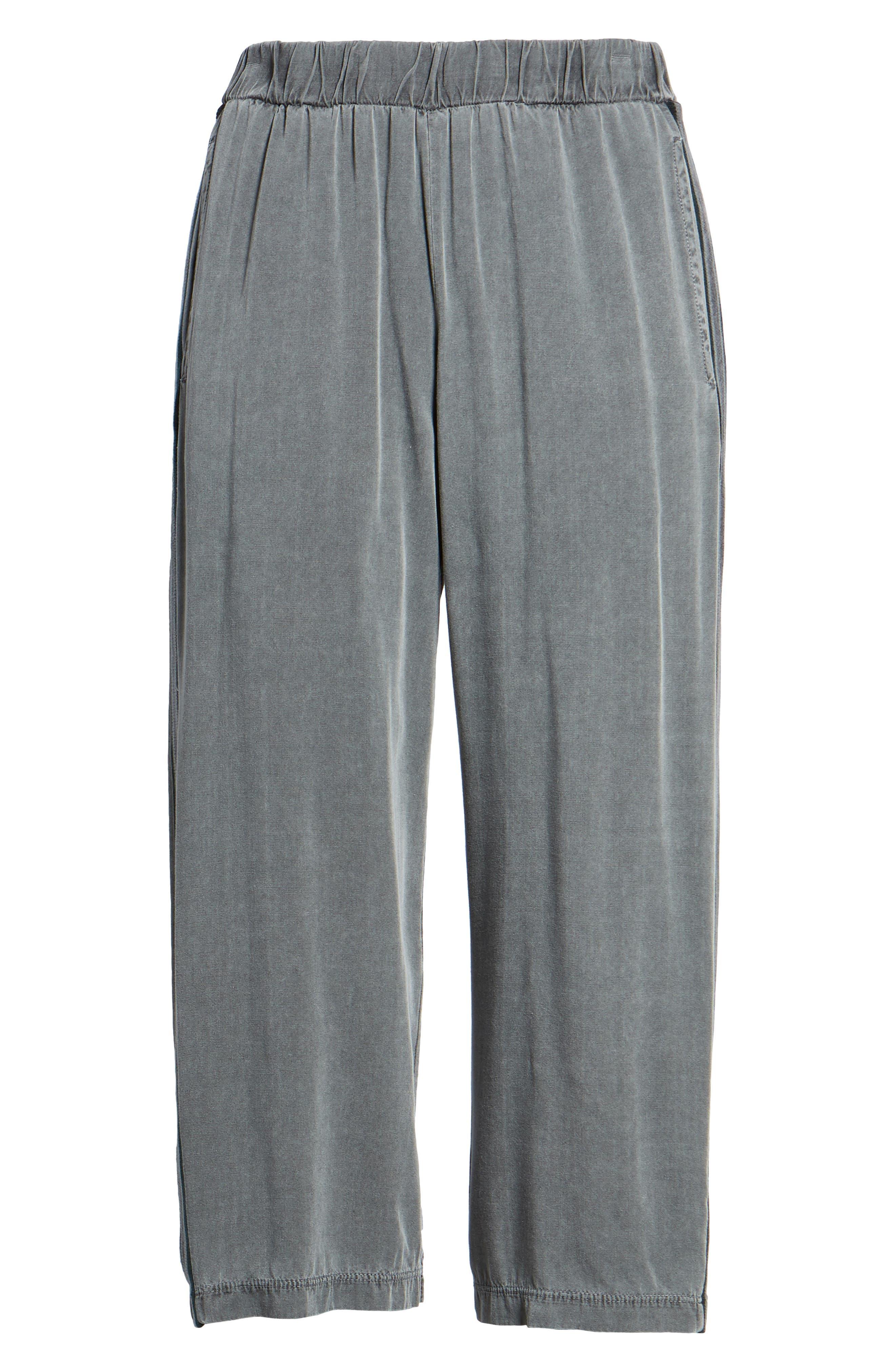 Stripe Crop Pants,                             Alternate thumbnail 7, color,                             020