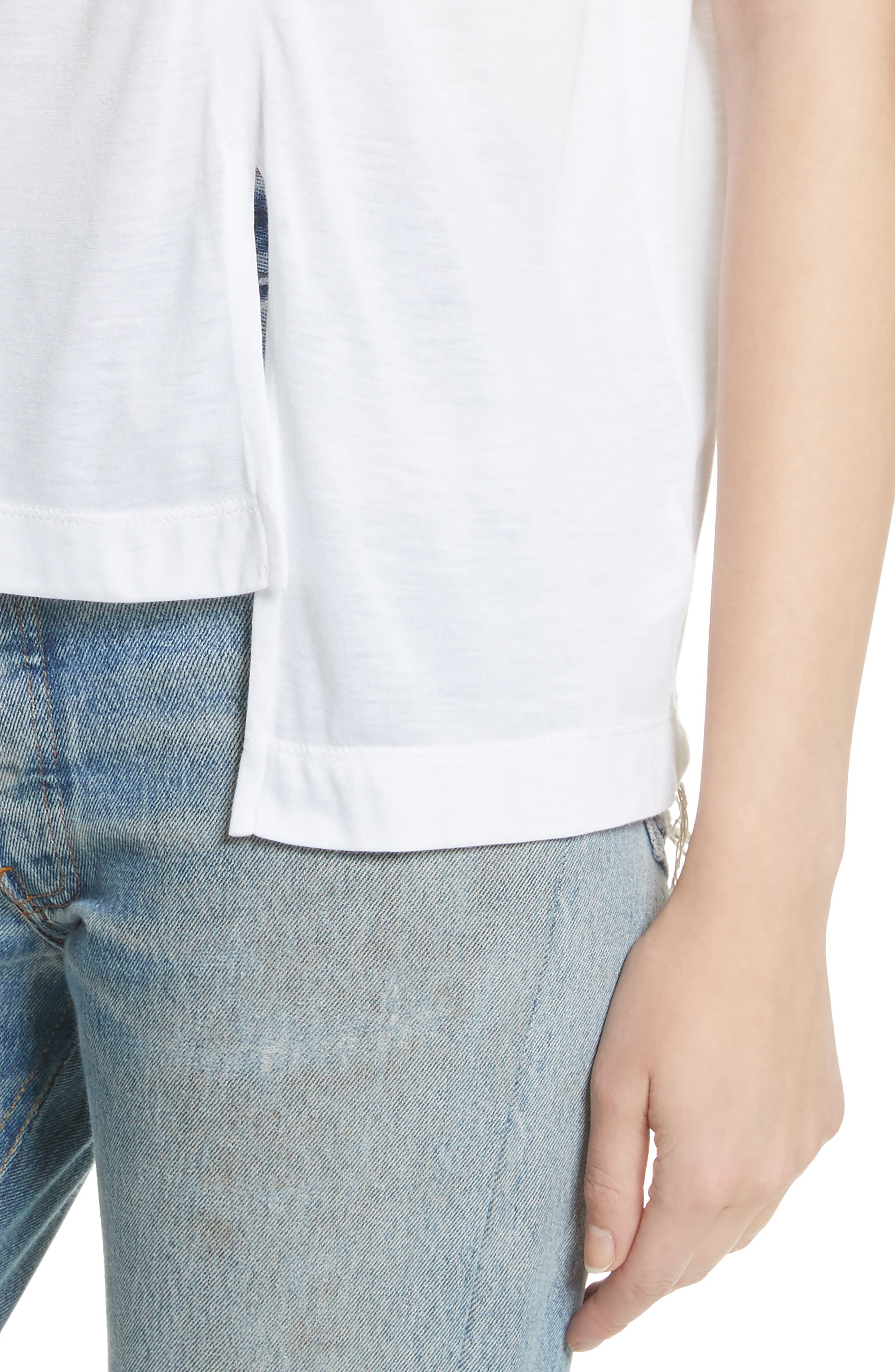 Perfect Muscle Tee,                             Alternate thumbnail 4, color,                             100