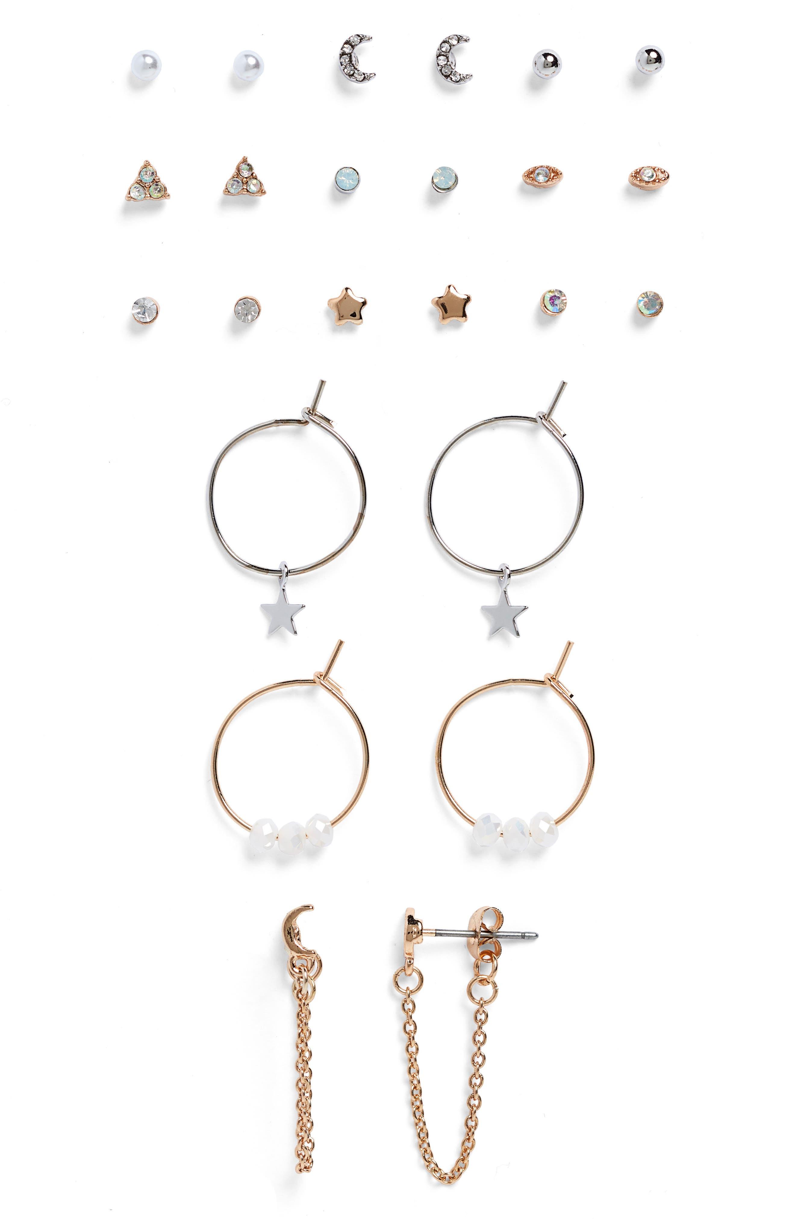 12-Pack Earrings,                             Main thumbnail 1, color,                             960