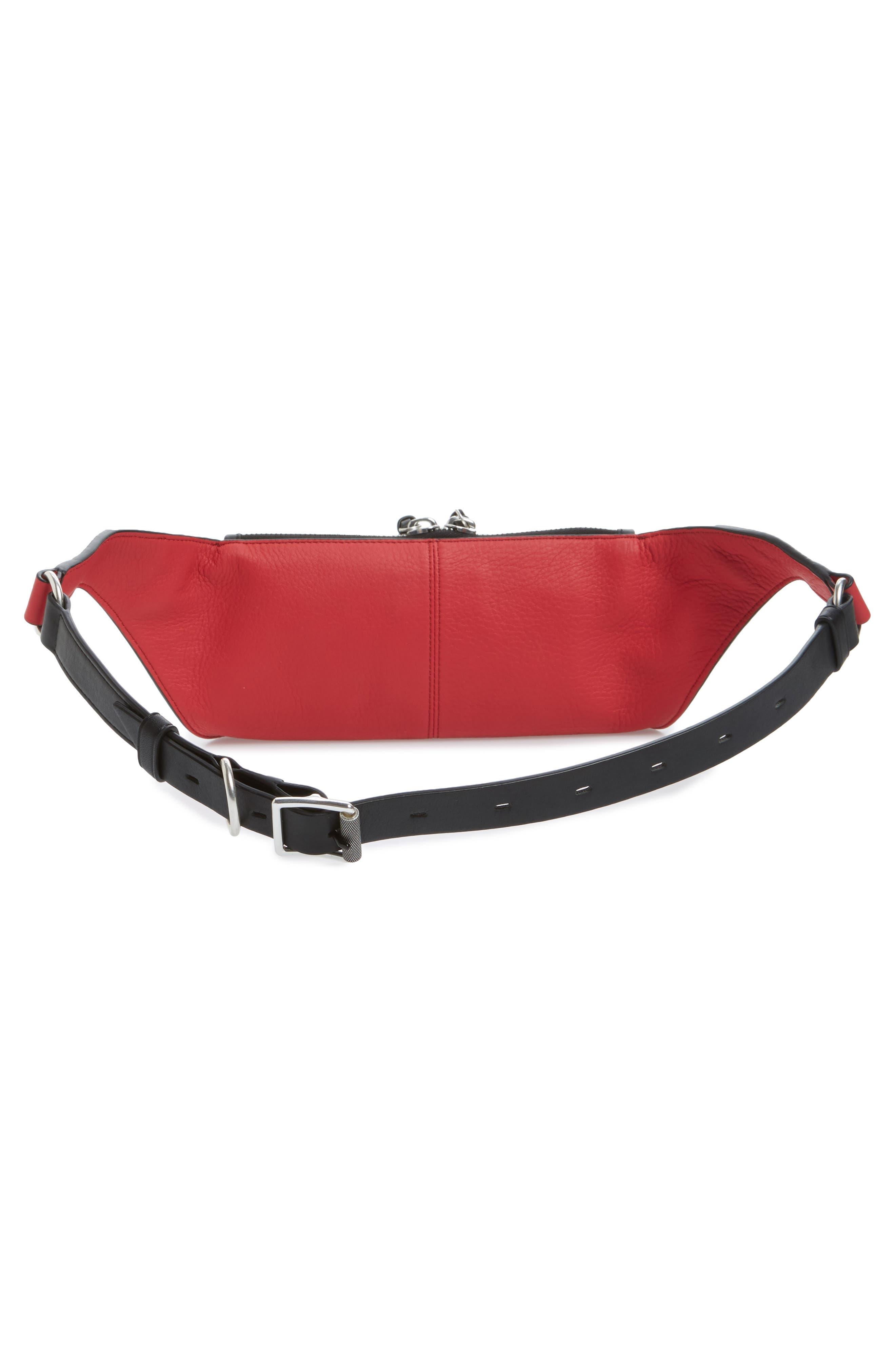 Large Ellis Leather Belt Bag,                             Alternate thumbnail 3, color,