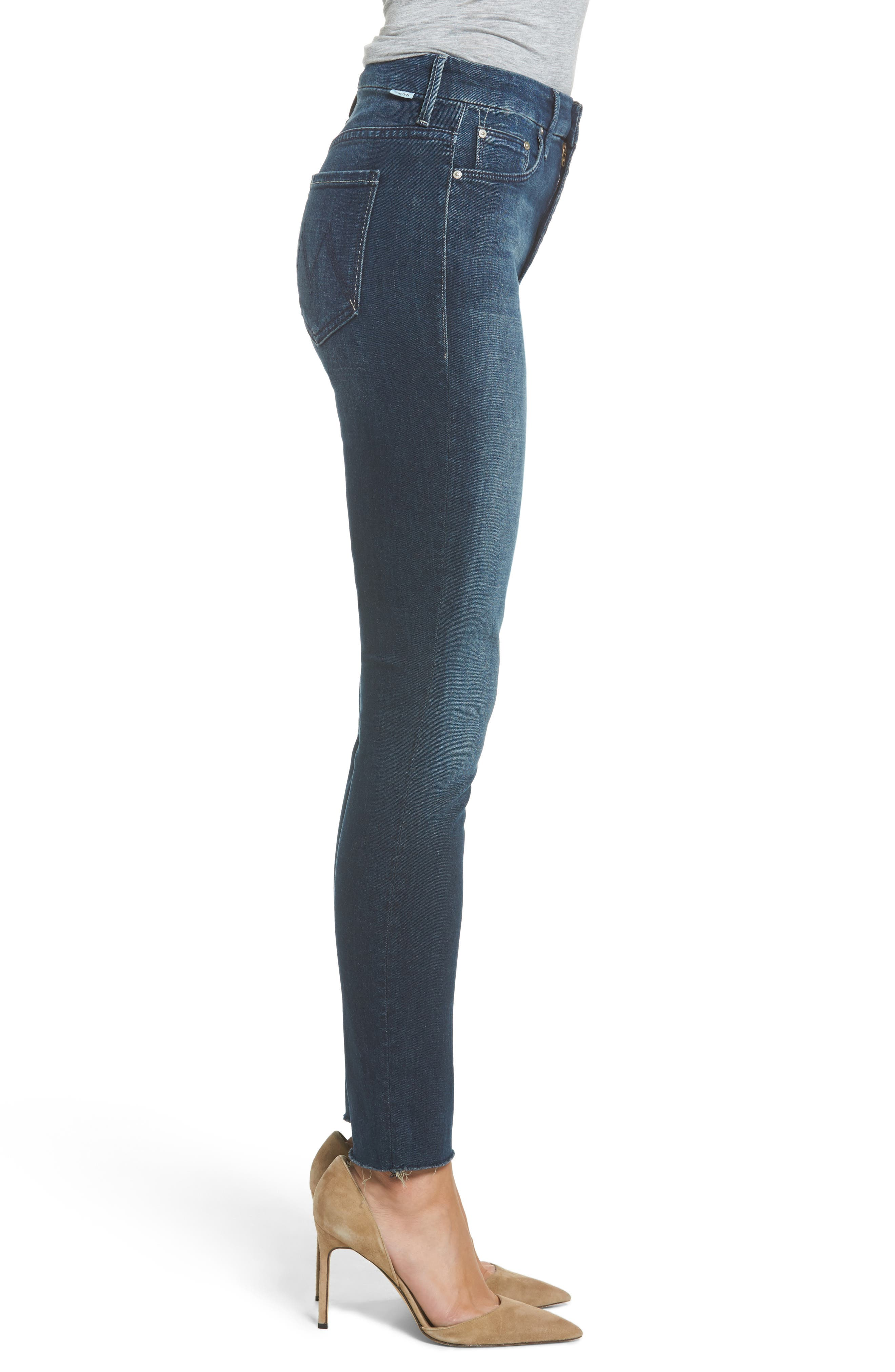 The Looker High Waist Ankle Skinny Jeans,                             Alternate thumbnail 3, color,                             408