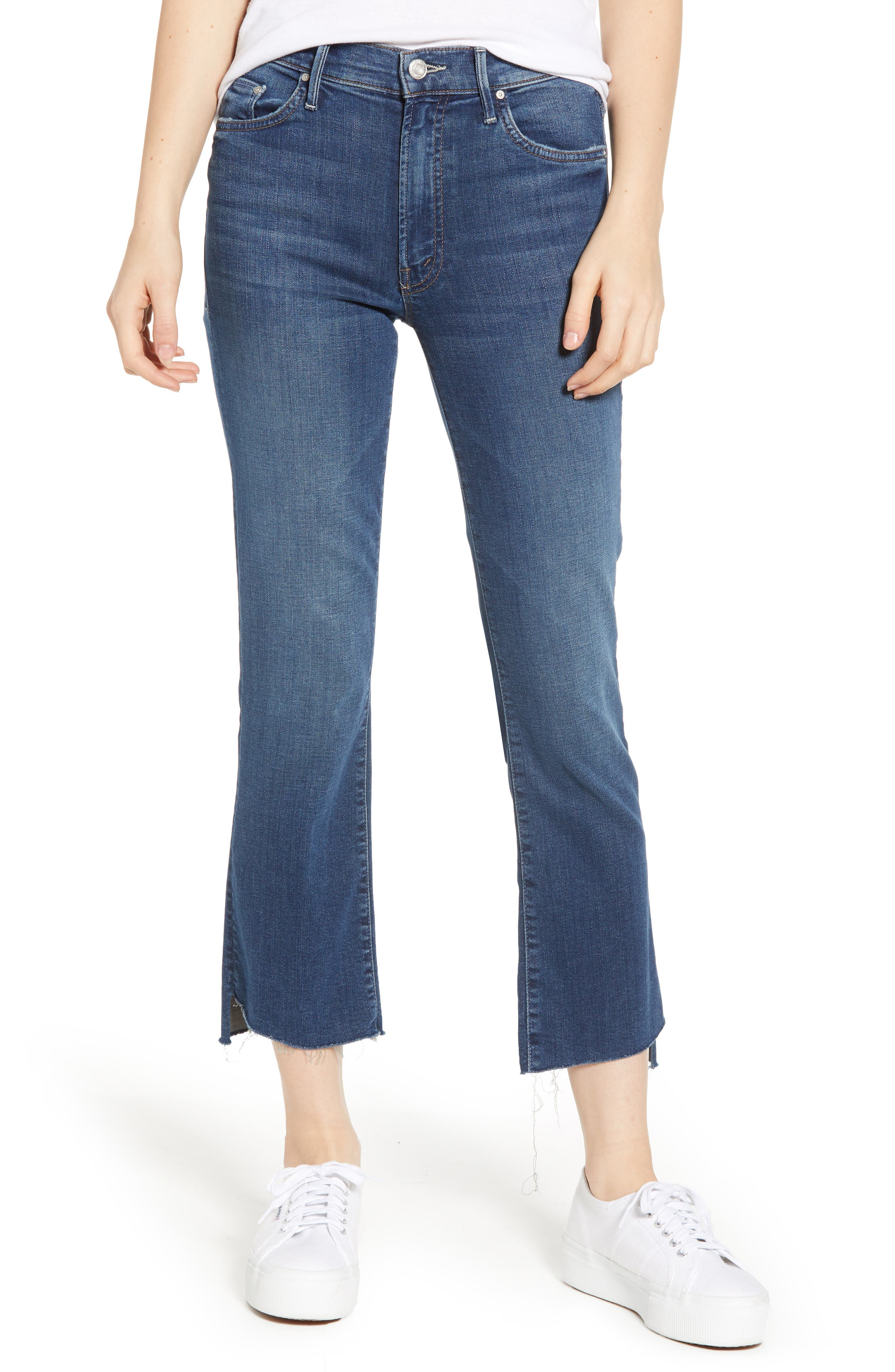 Insider Cropped Step-Hem Fray Straight-Leg Jeans In Turn Of The Tide