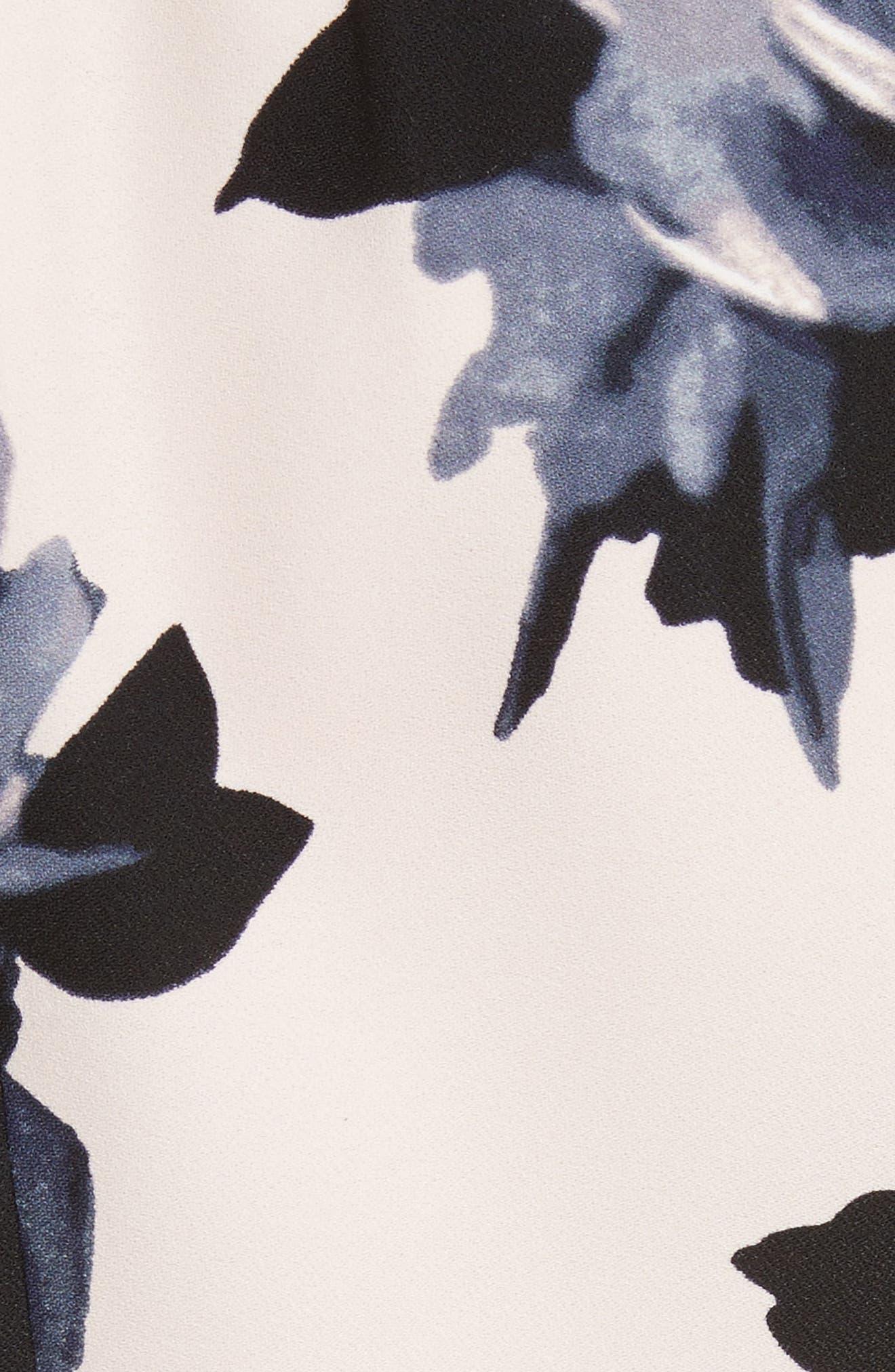 night rose ruffle sleeve dress,                             Alternate thumbnail 5, color,                             672