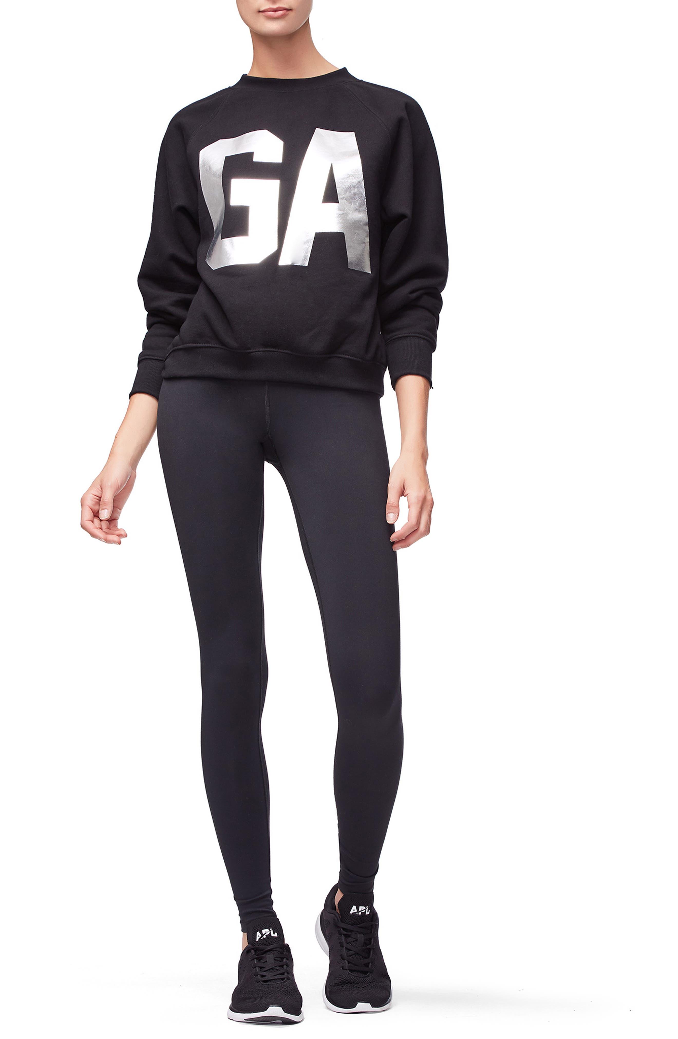 Goodies Varsity Sweatshirt,                             Alternate thumbnail 8, color,                             BLACK002