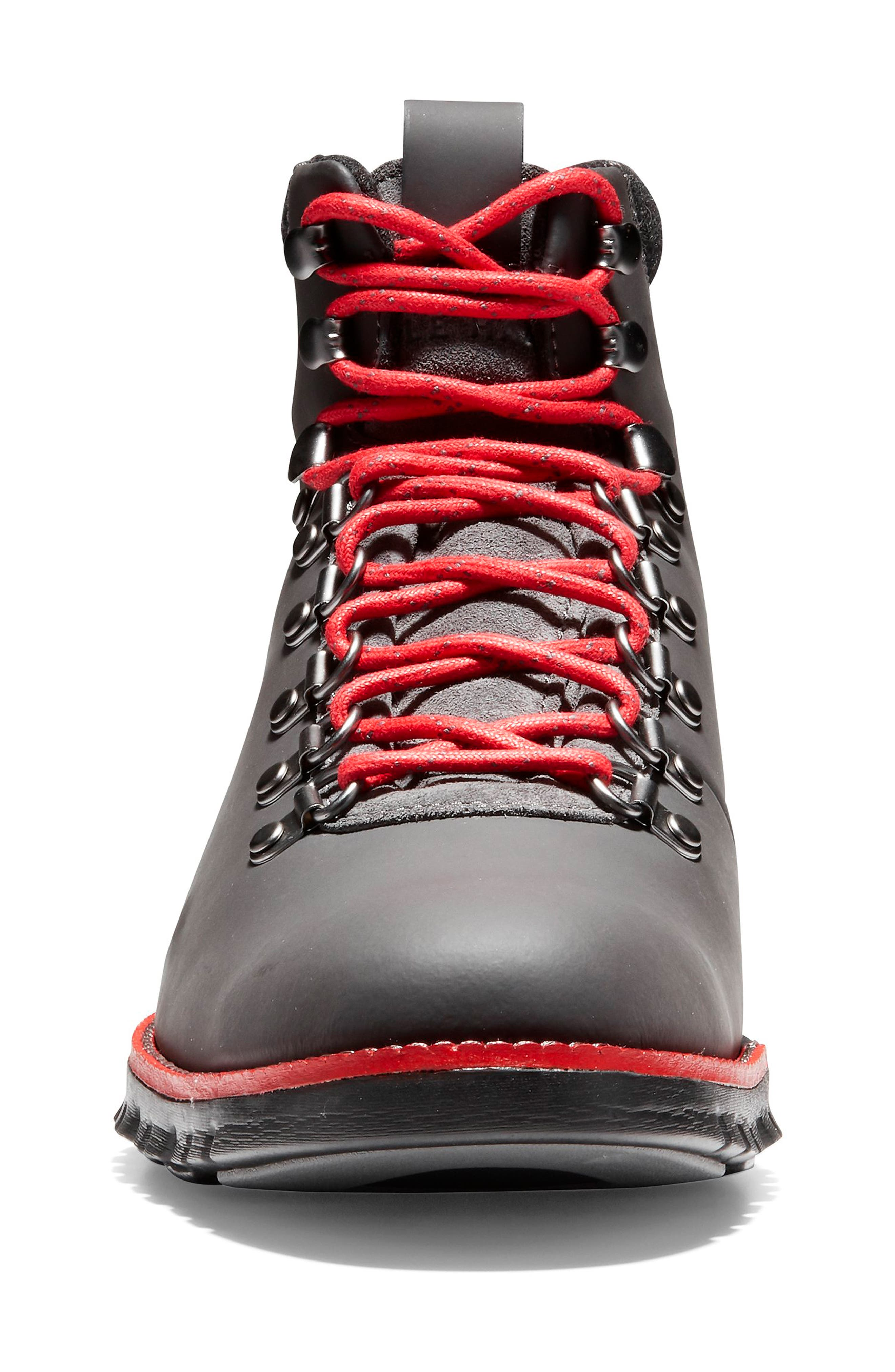 ZeroGrand Water Resistant Hiker Boot,                             Alternate thumbnail 4, color,                             MAGNET LEATHER