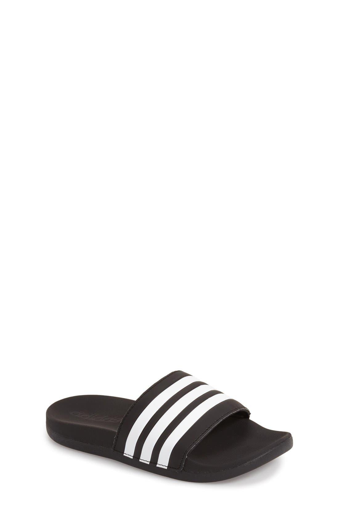 'Adilette Plus' Sandal,                         Main,                         color, 001