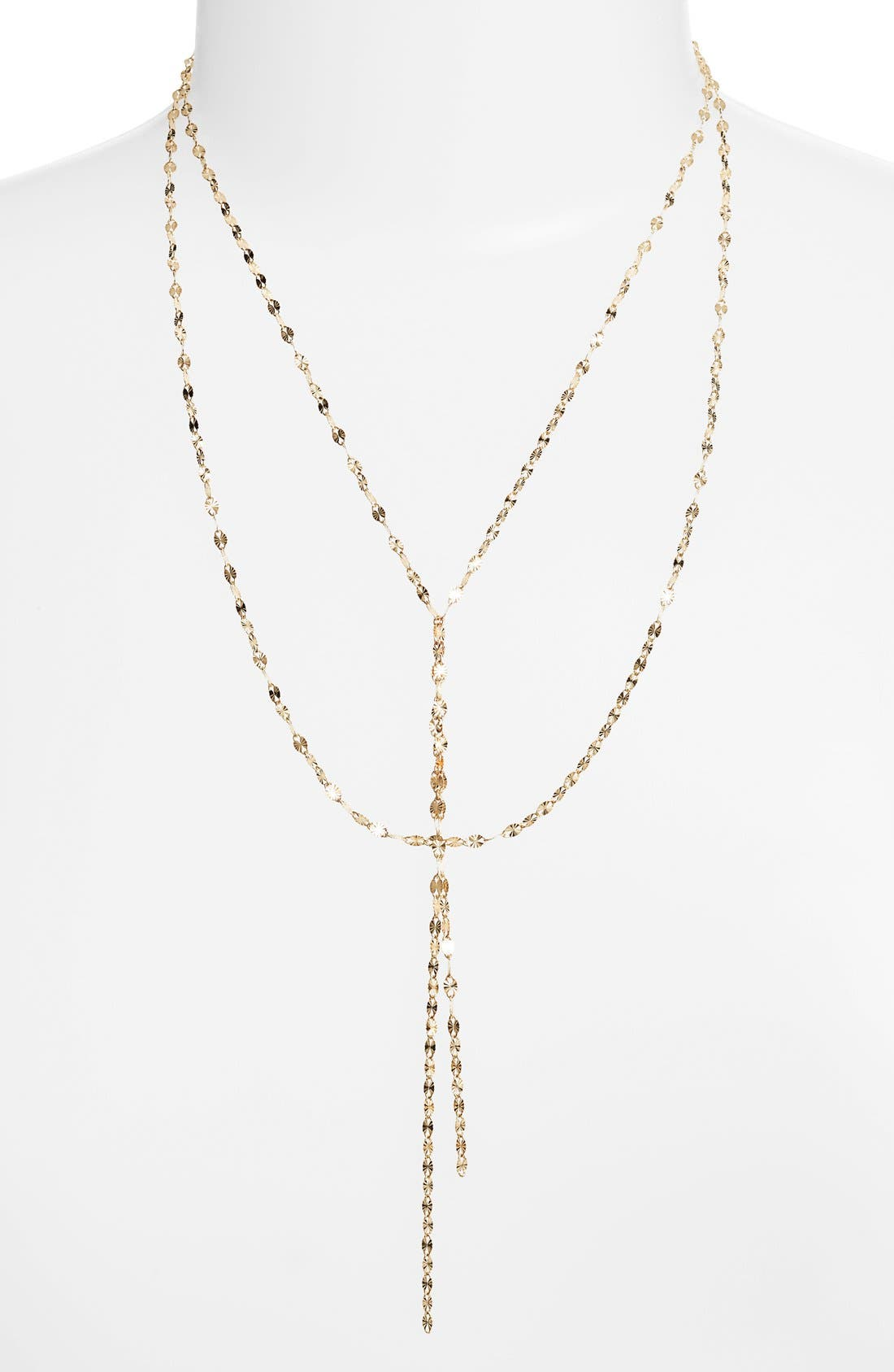 'Mega Blake' Lariat Necklace,                             Main thumbnail 1, color,                             YELLOW GOLD