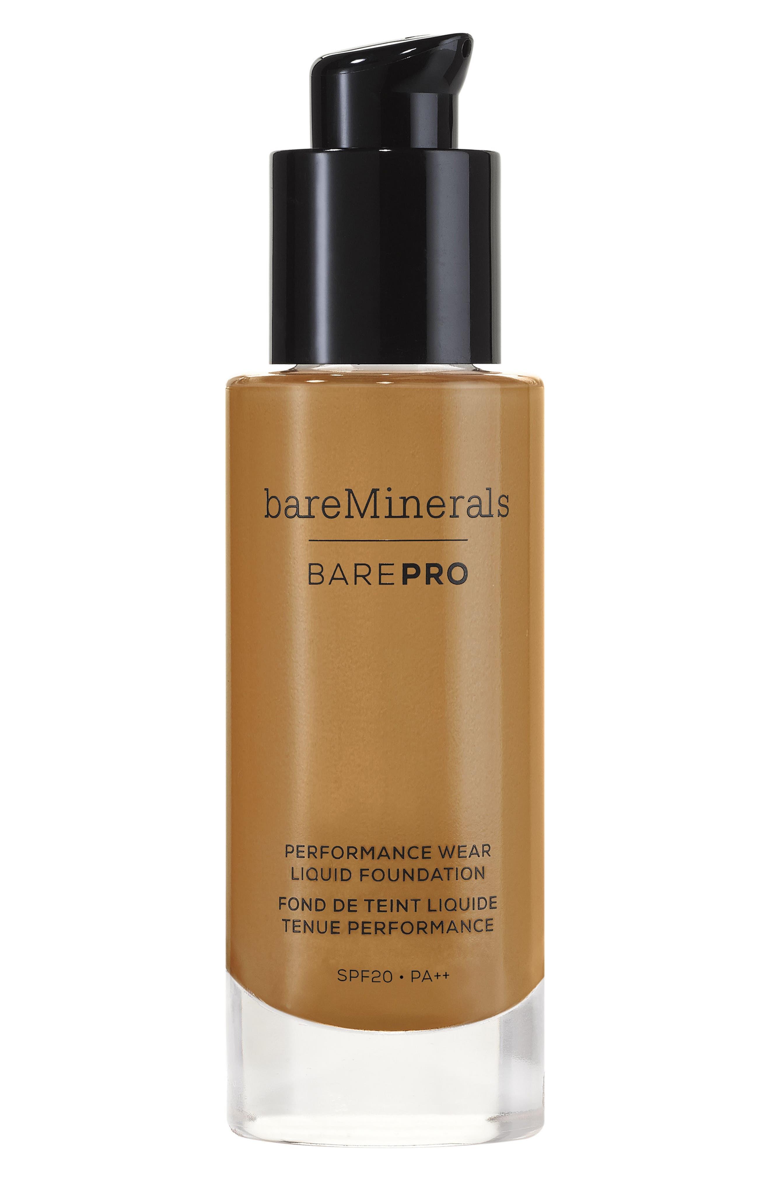 BarePro<sup>®</sup> Performance Wear Liquid Foundation,                             Main thumbnail 1, color,                             25 HAZELNUT