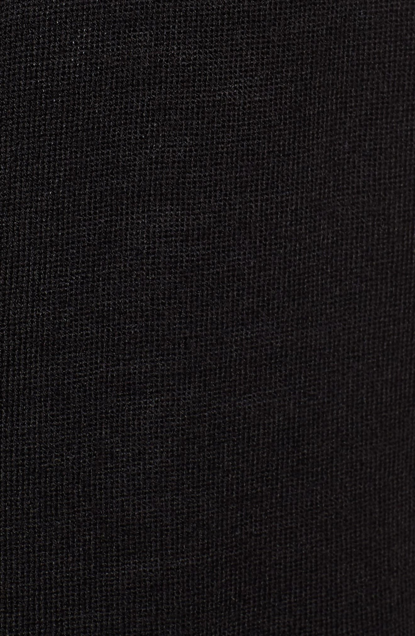 V-Neck Merino Wool Cardigan,                             Alternate thumbnail 5, color,                             BLACK